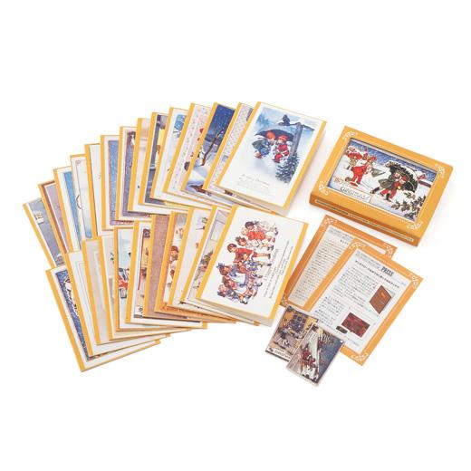 【1回のお届け内容】 ディスプレイボックス、グリーティングカード25枚(絵柄違い)、オーナメントカード2枚、ミュージアムプレス2枚●素材/紙 ●サイズ/ディスプレイボックス:縦約15.5cm、横約11.5cm、奥行約3cm グリーティングカード:縦約14.8cm、横約10.5cm(たたんだ状態) オーナメントカード:縦約7.4cm、横約4.7cm(日本製)