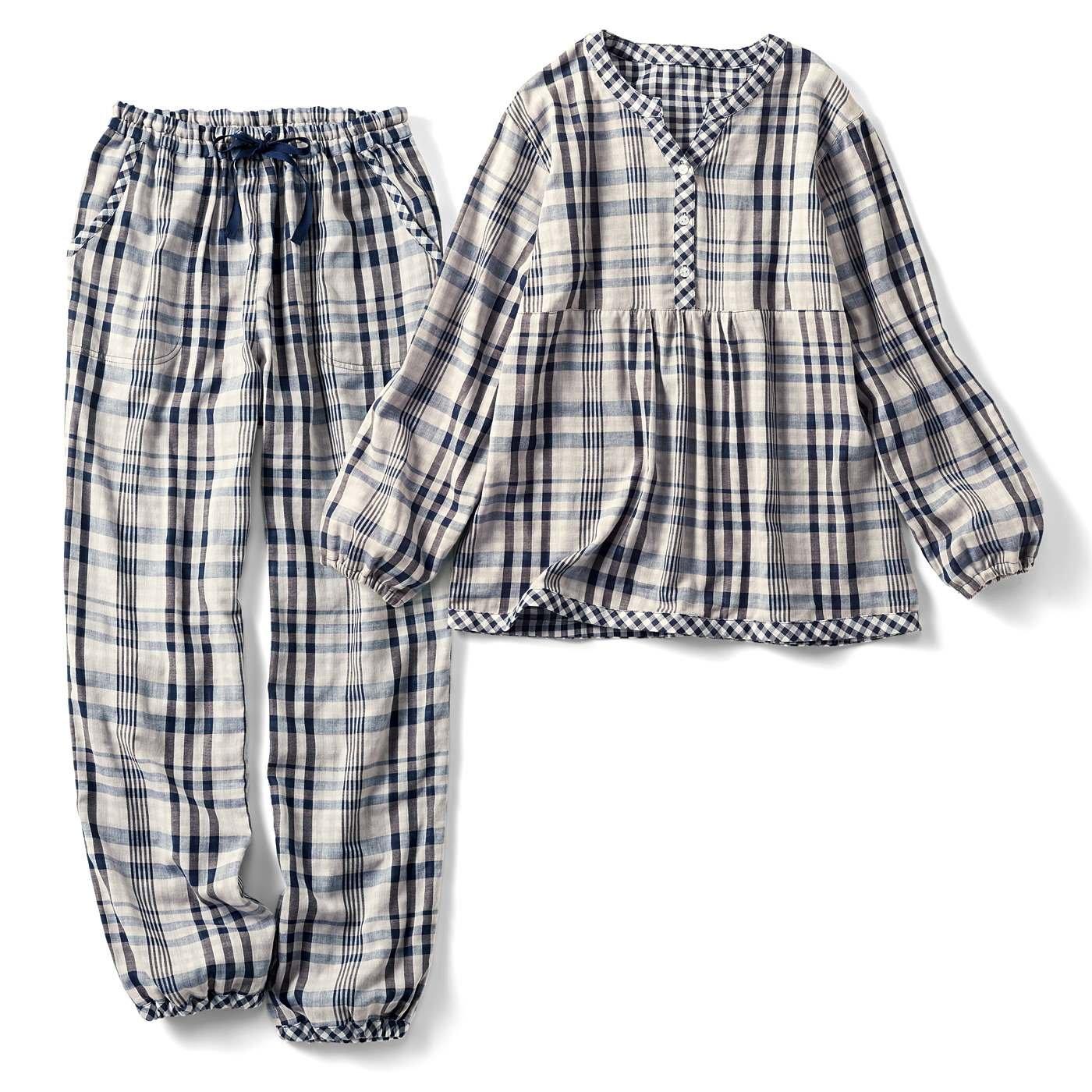 リブ イン コンフォート 寝ても覚めてもやっぱり着ていたいダブルガーゼパジャマの会