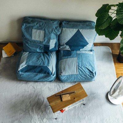 古着屋さんで見つけたような ユーズド加工のくたくた収納デニムザブトンの会 フェリシモ FELISSIMO【送料無料】