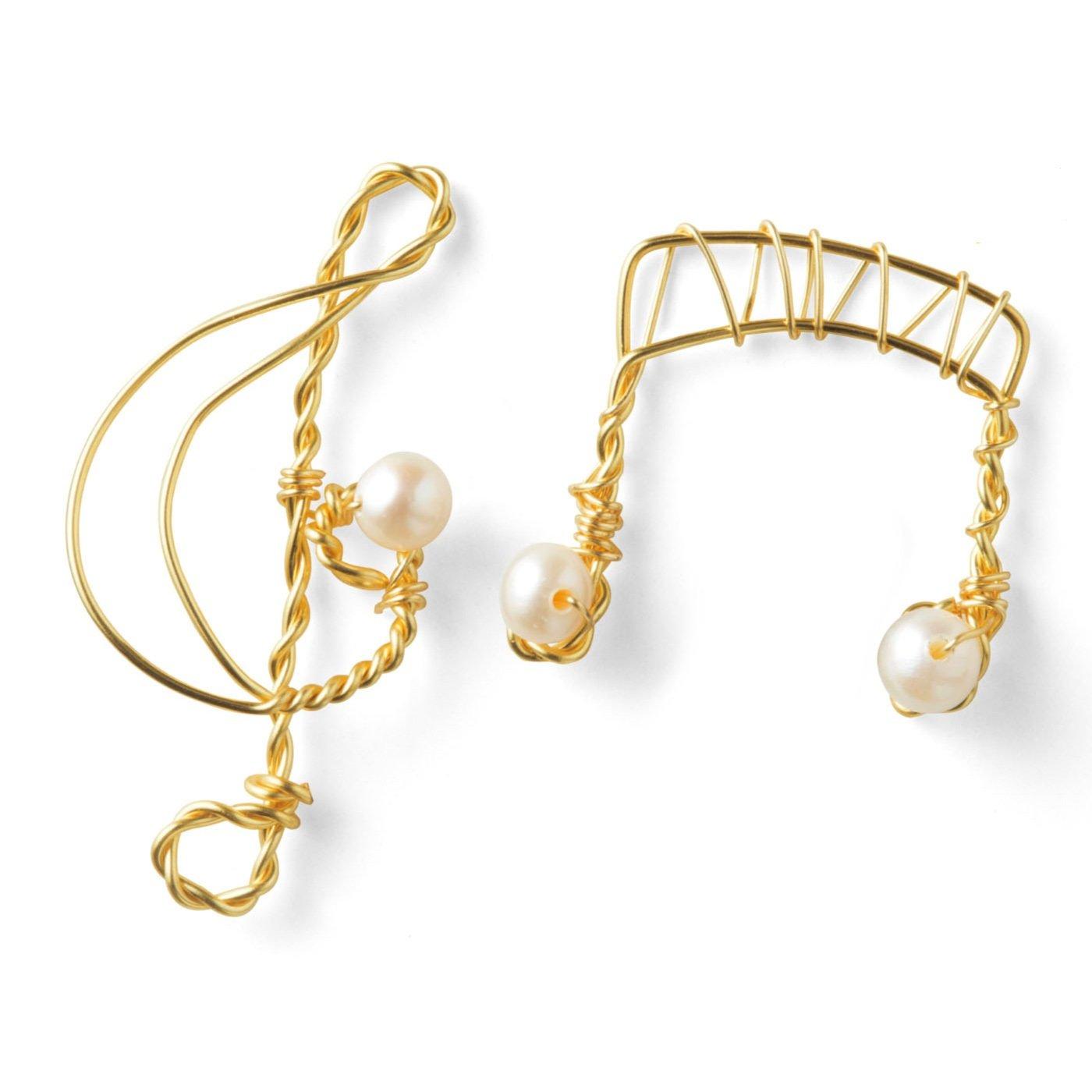 美しき調べ 華奢アクセサリー  淡水真珠音符ネックレス手づくりセット (お試し版)