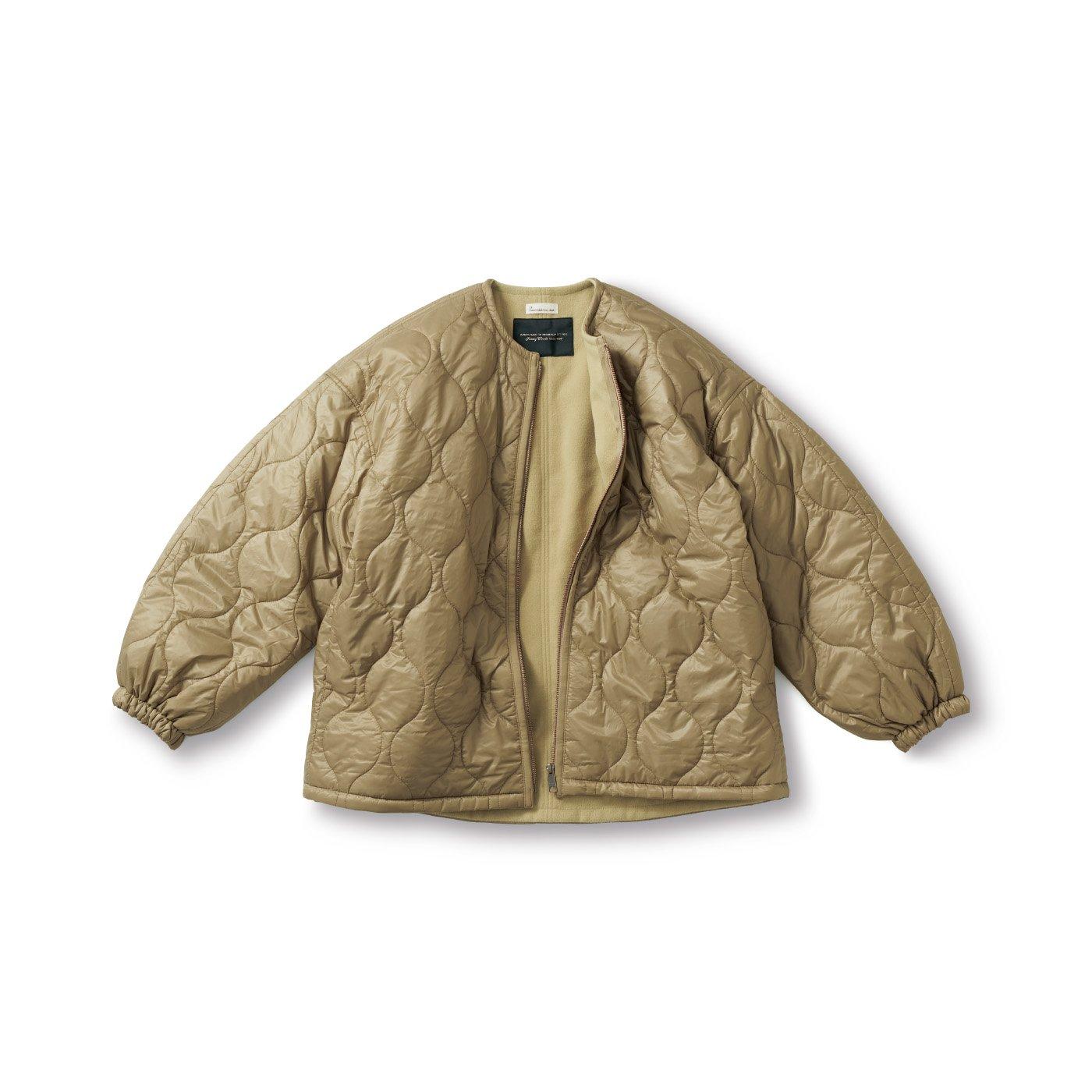 SUNNY CLOUDS kazumiのススキ色のキルトジャケット〈レディース〉
