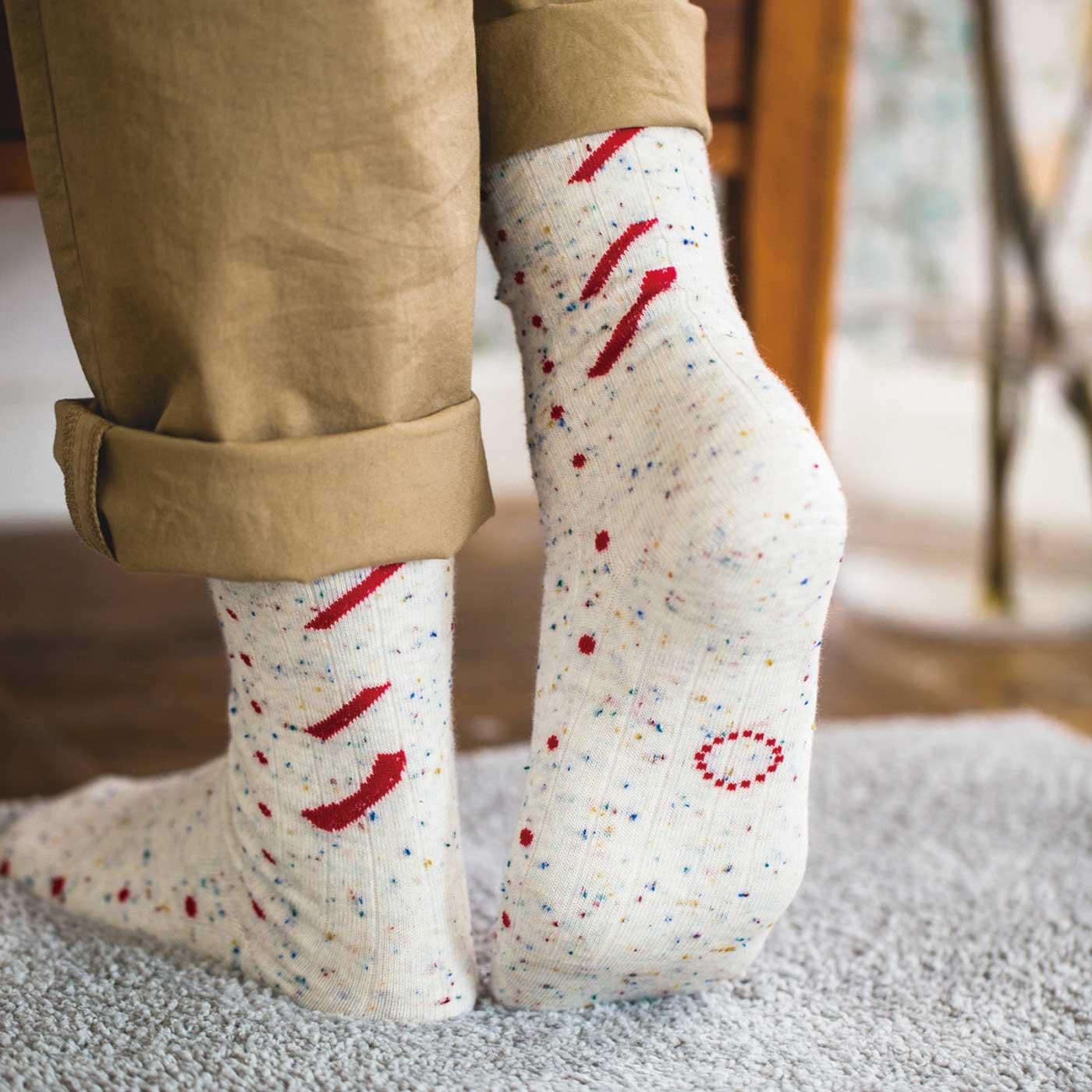 足裏にかわいいアクセントがあるデザインも。