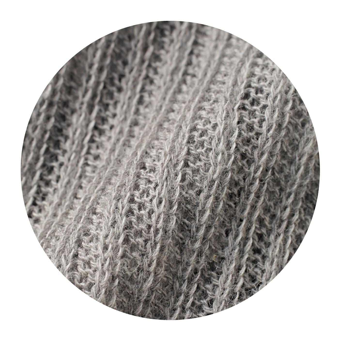 おしゃれで涼やかな、透け感のあるリブ編み。