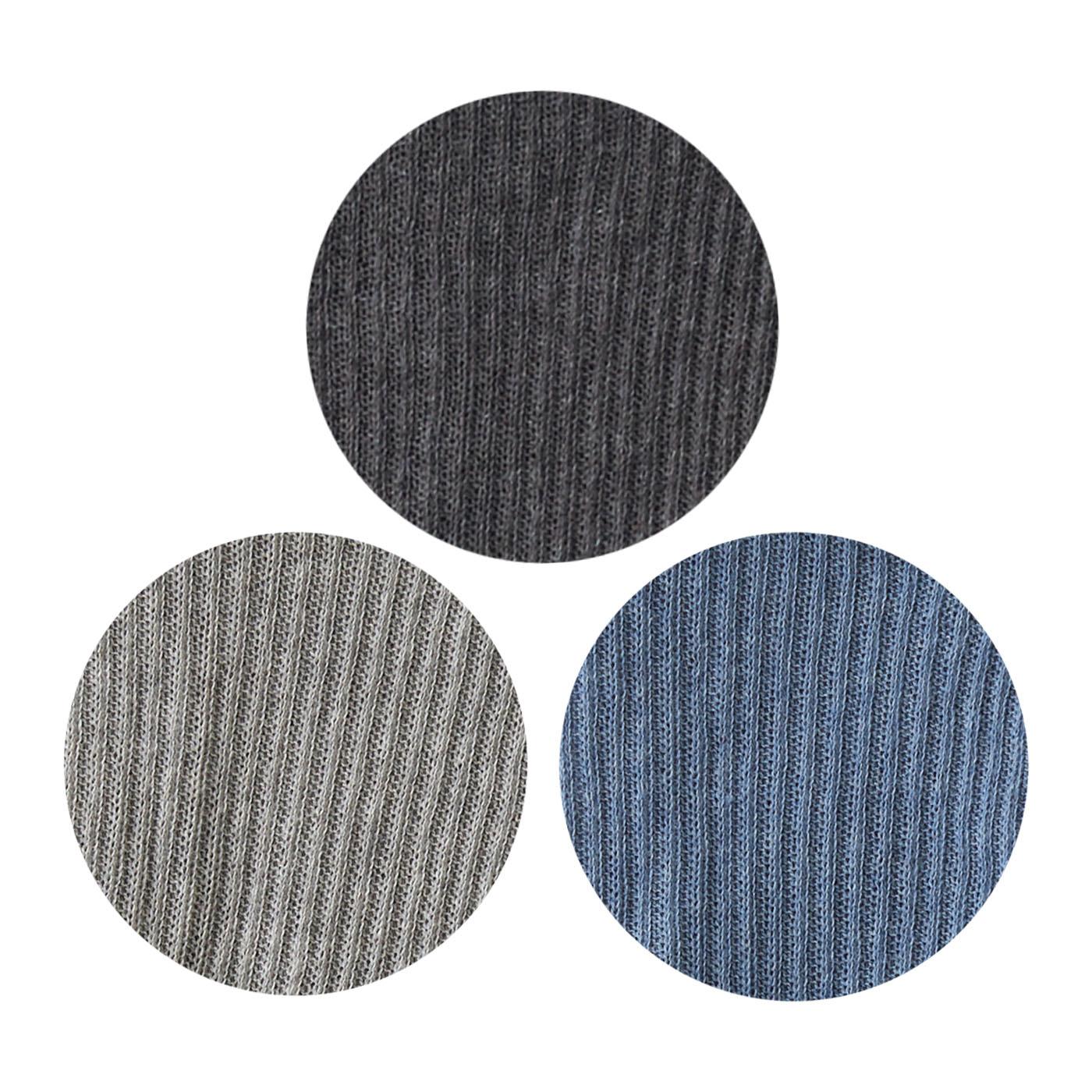 〈チャコール〉〈ライトグレー〉〈ネイビー〉のナチュラルでコーデに合わせやすい3色展開。