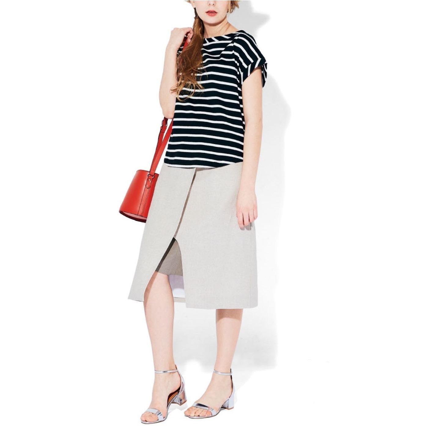 ラップスカートからちらりと見えても、重ね着風でかわいい!