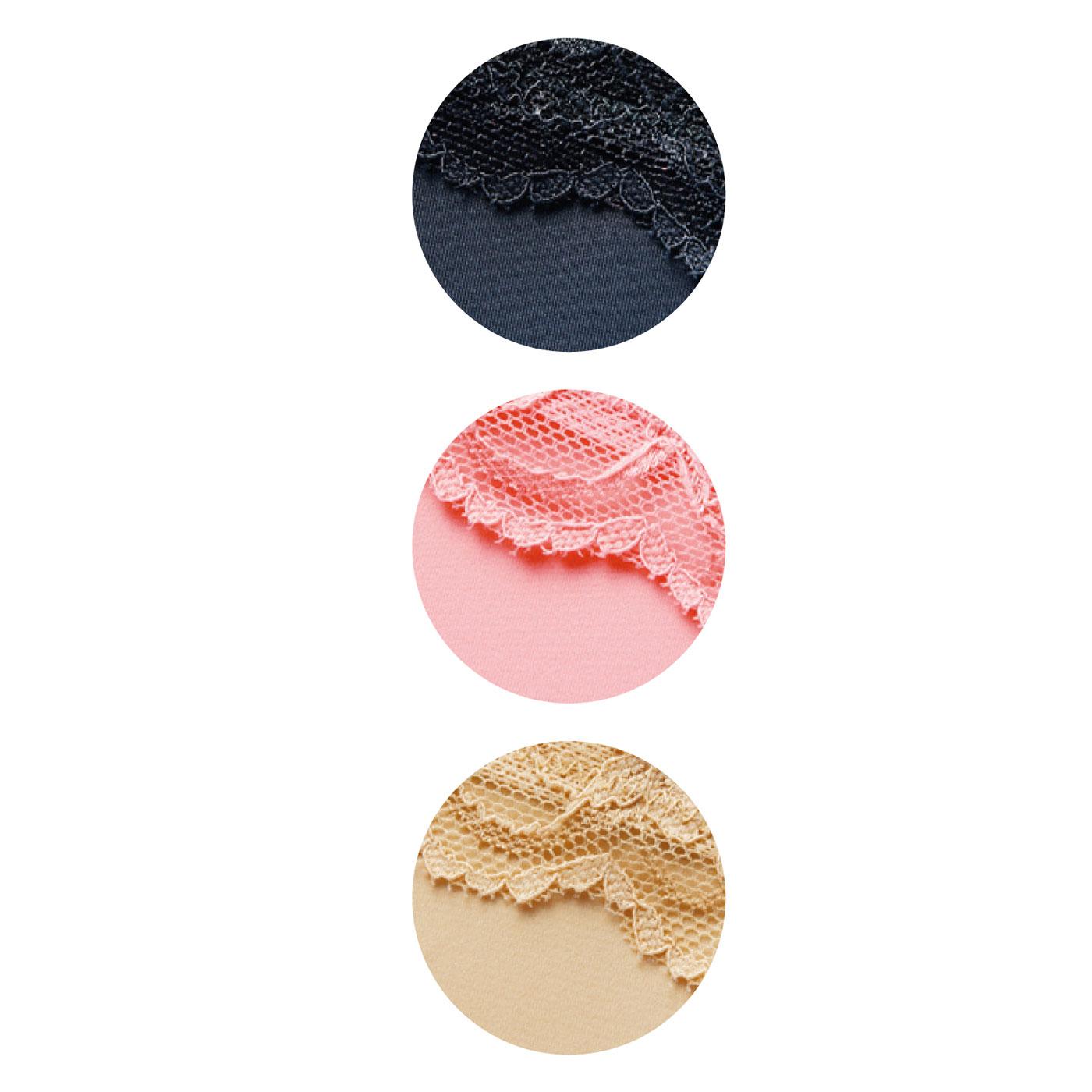 〈ブラック〉〈ピンク〉〈ベージュ〉の3色展開。