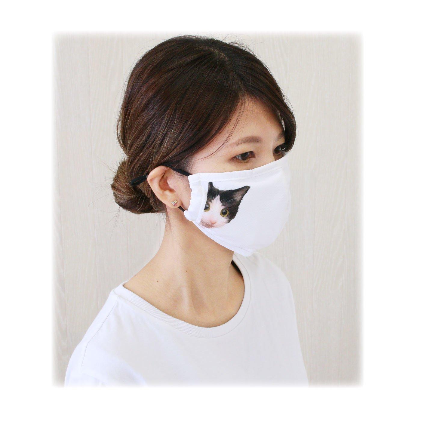 かわいいマスクでコミュニケーション 冷感&抗菌マスク2枚