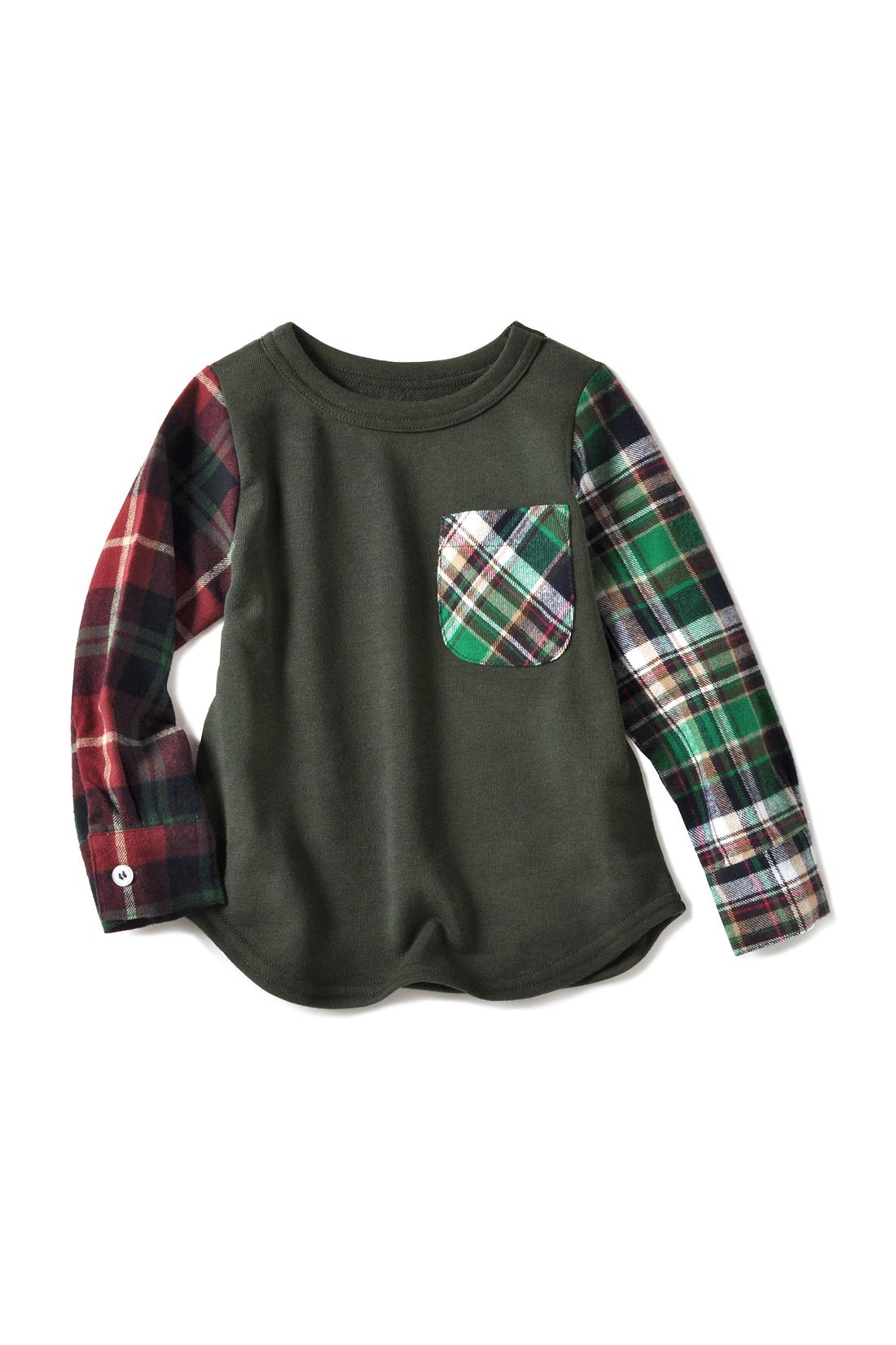 きちんとシャツ袖仕様でロールアップしてもかっこいい! スカートにもパンツにも相性抜群の丈感。すそのカーブがポイント。着るだけでおしゃれ。