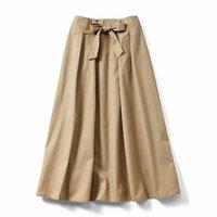 <フェリシモ>IEDIT[イディット] フレアーラインがきれいに広がる ロングスカート〈ベージュ〉【送料無料】