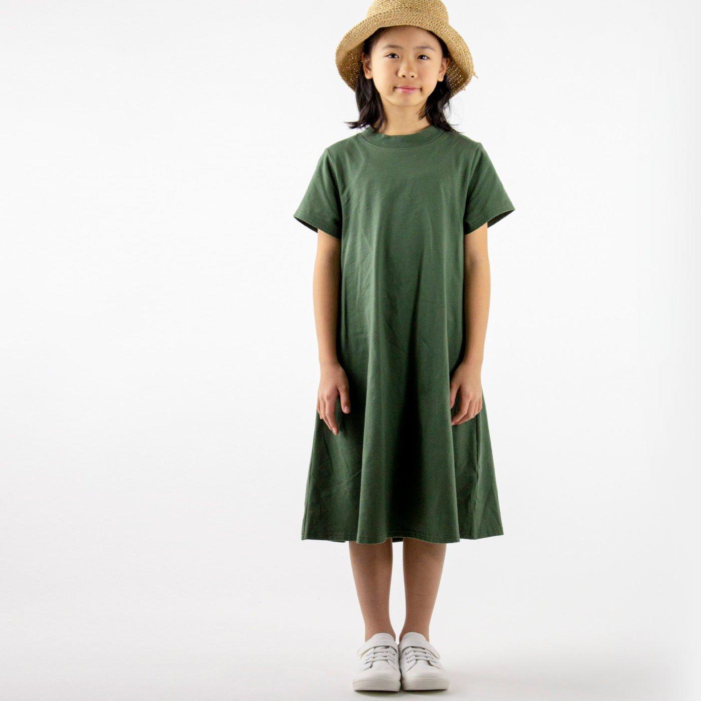 ゆったりフレアのTシャツワンピ キッズ 110