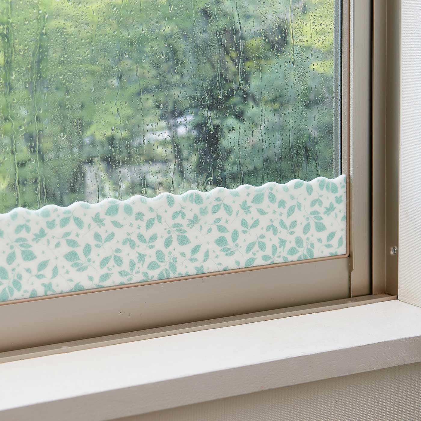 窓ガラスに貼るだけ 柄がかわいい防カビ結露シート