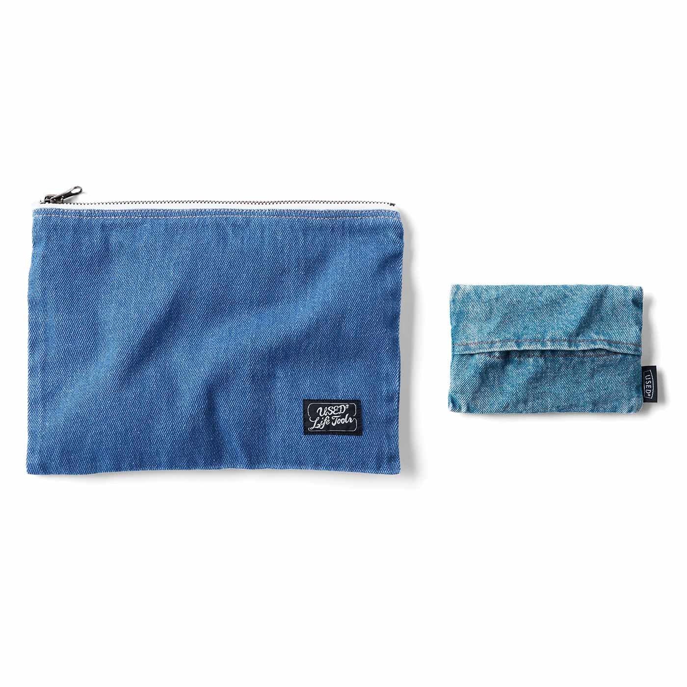 整理整とんの達人に! 暮らしがすっきりしていく 毎日使いの青い小物〈ポーチ&ポケットティッシュケース〉