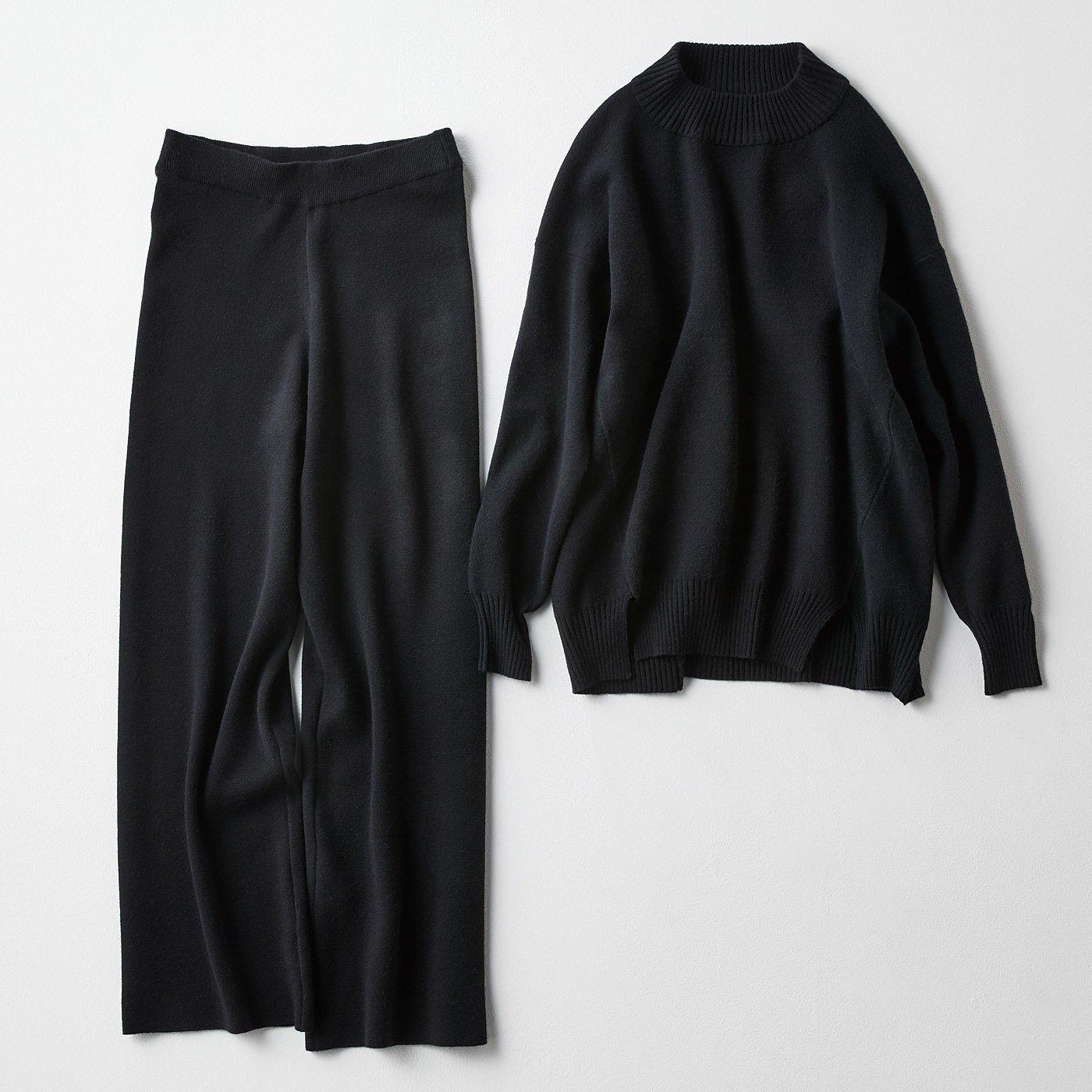 IEDIT 福田麻琴さんコラボ ミラノリブニットセットアップ〈ブラック〉