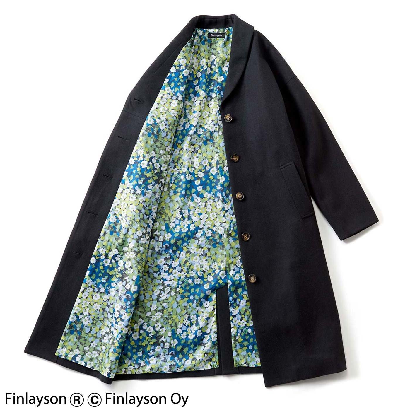 フィンレイソン 裏地が華やかな へちまカラーコート〈レイニッキ〉