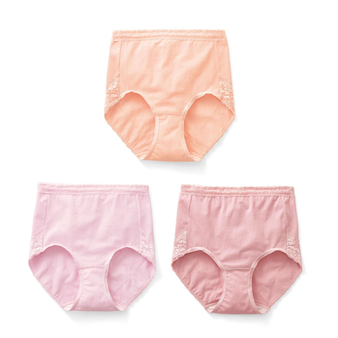 〈ピーチピンク〉〈パウダーピンク〉〈コスモスピンク〉肌なじみのよいピンクカラーの3色展開。