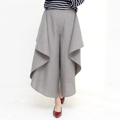 フラウグラット 風を通して腰まわり隠す 2-WAYラップスカート風パンツの会【送料無料】