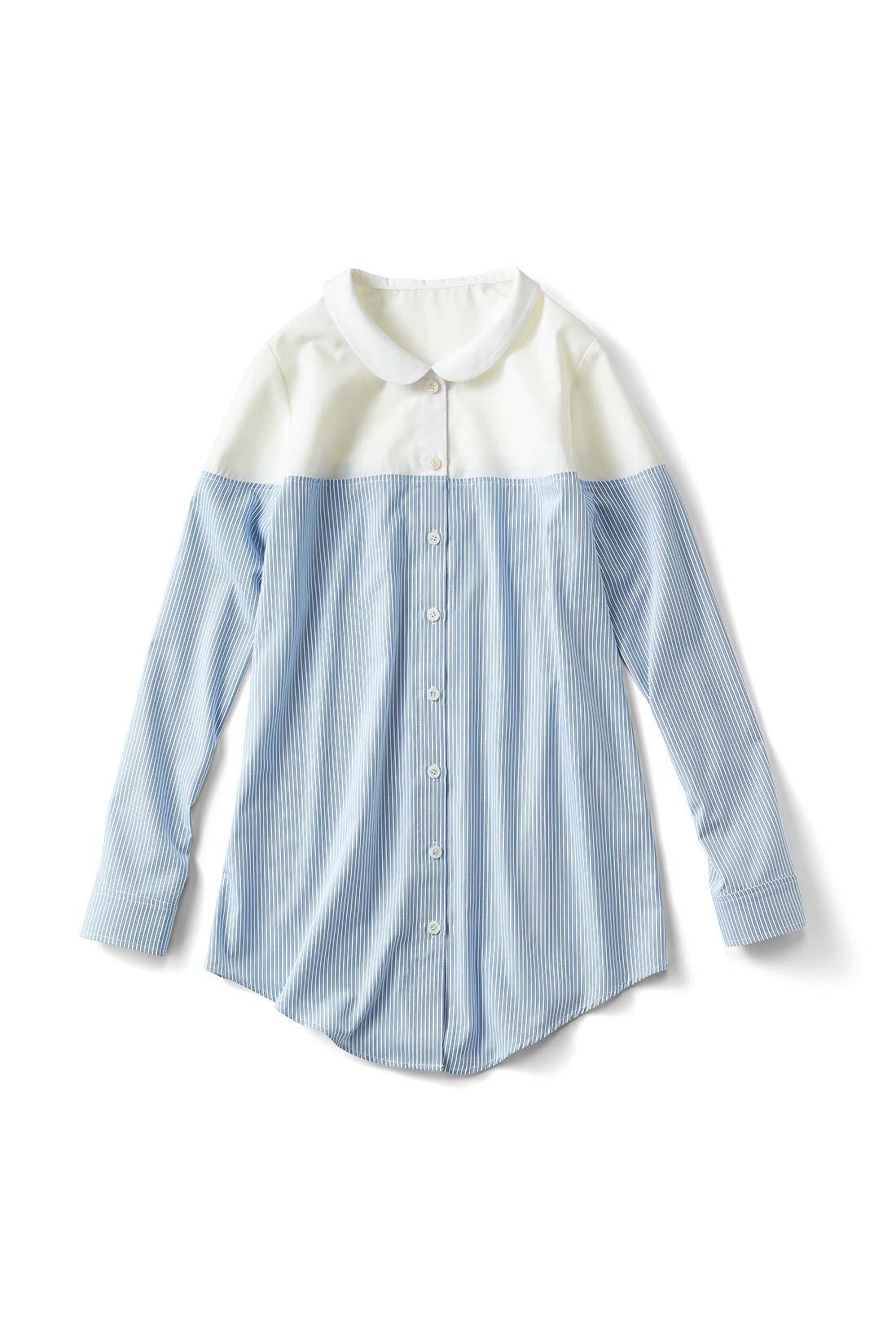 【ホワイト/ストライプ】ボリュームボトムを合わせてトレンドの着こなしにする? それともスキニーですっきり着やせを目指しちゃう?