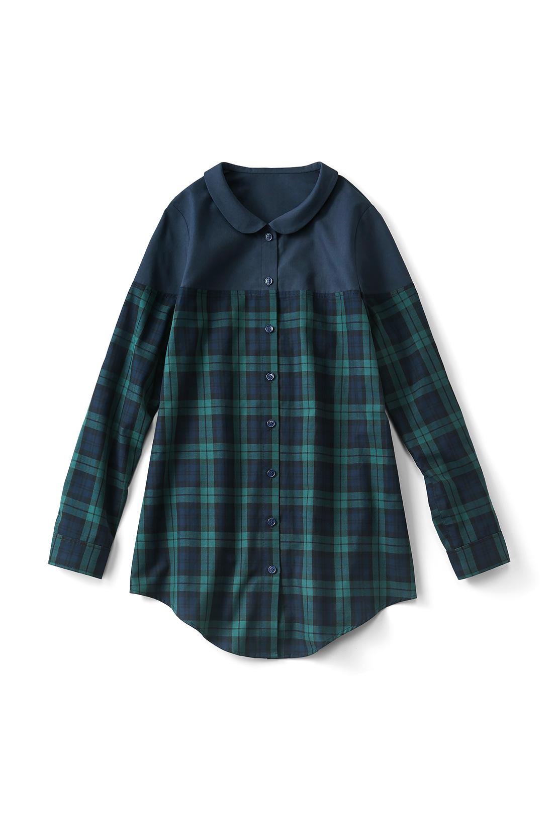 【ネイビー/ブラックウォッチ】ボリュームボトムを合わせてトレンドの着こなしにする? それともスキニーですっきり着やせを目指しちゃう?