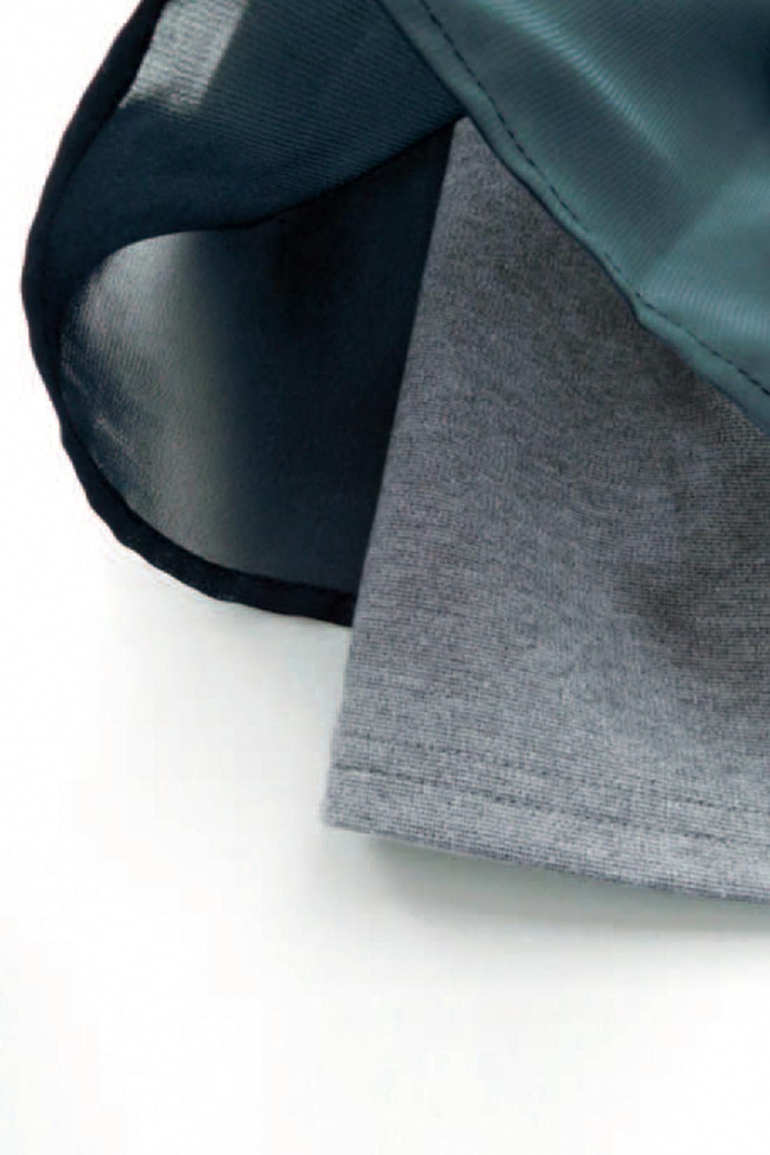 ★揺れるシフォンにときめいて。 背中からわきにかけて、透け感のあるシフォンを重ねています。ほんのり甘いアクセント。 ※お届けするカラーとは異なります。
