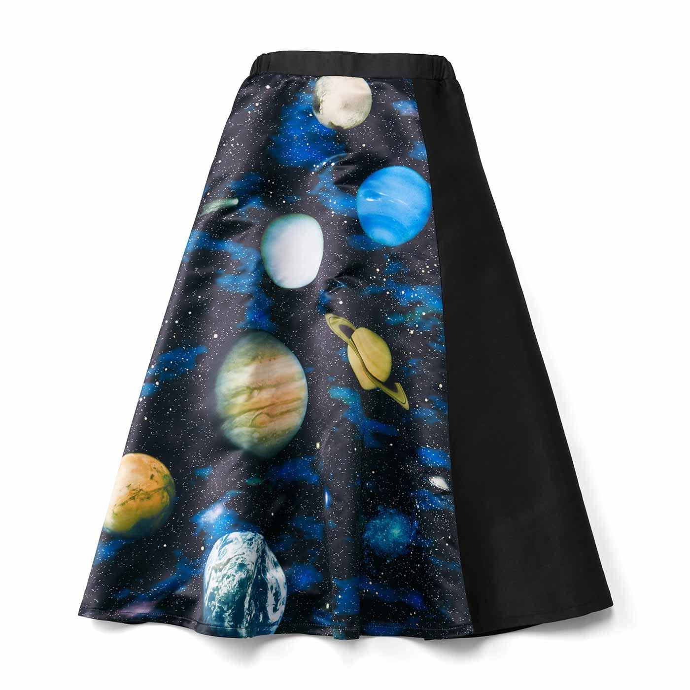 宇宙プリントフレアースカート