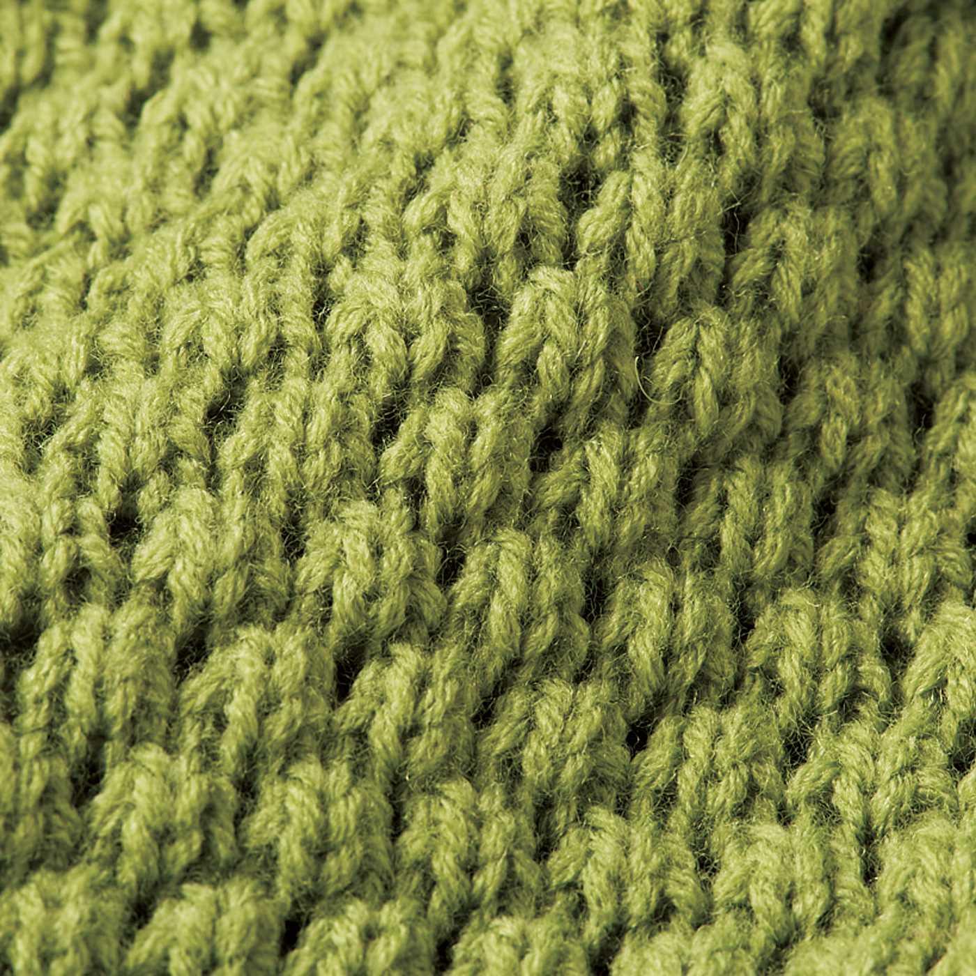 ワニ肌を意識した編み柄。