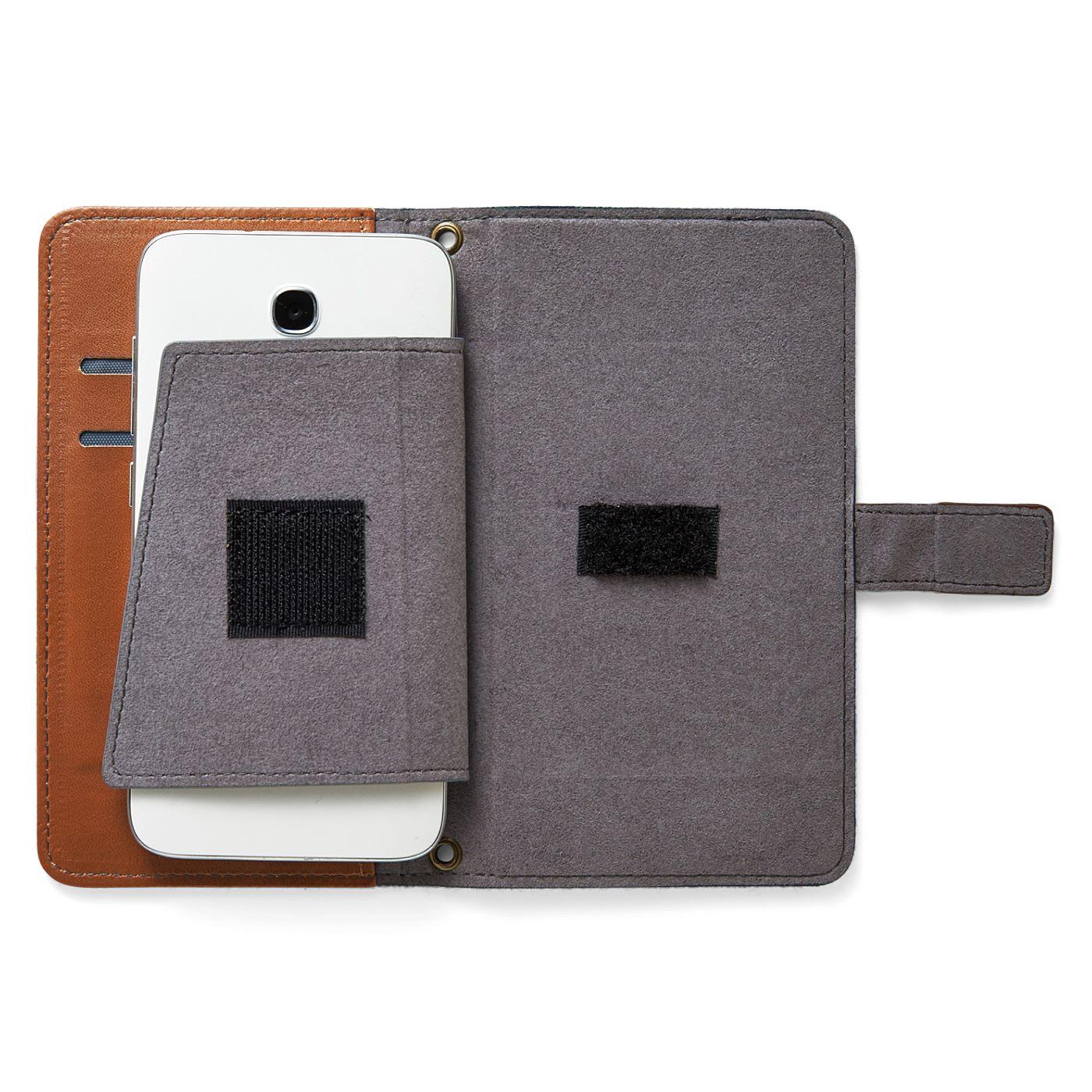 面ファスナーで外カバーと固定できるので、パタパタ開かず使いやすい。