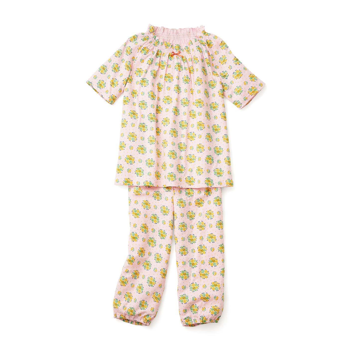フェリシモキッズ×猫部 お花柄の中に猫がひそむパジャマ〈レディース〉〈ピンク〉