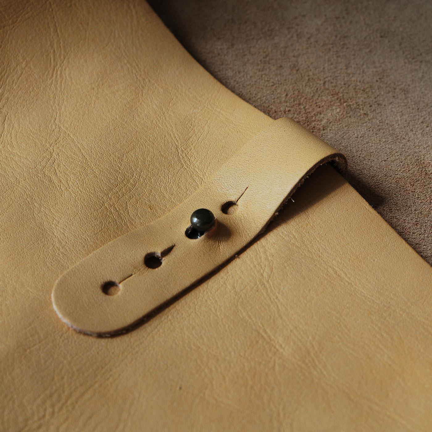 世界にひとつ!『縫うだけで完成』あこがれのレザークラフト ショルダーバッグ手づくりキット(ミルクティー)