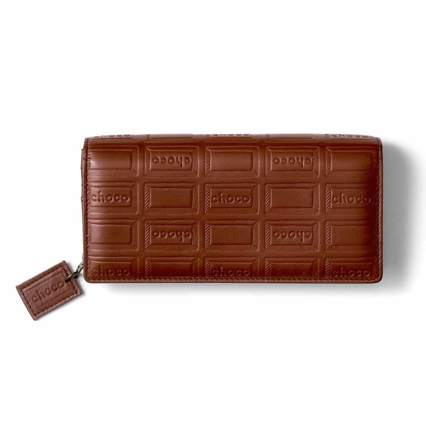 復刻! 本革チョコ柄のバイヤー長財布〈カカオブラウン〉[本革 財布:日本製]