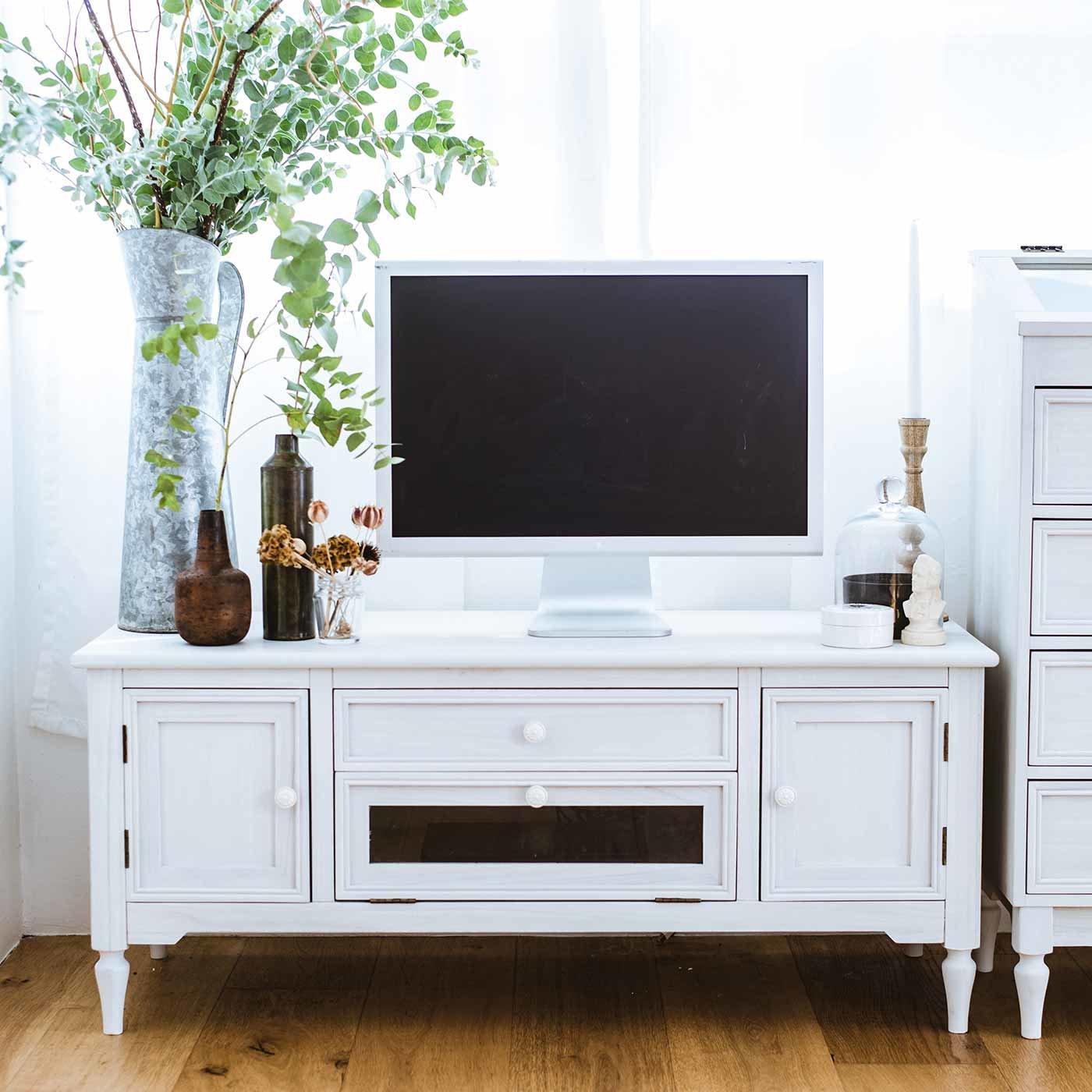私らしい心地のいい家具 上品ローボード〈ノーブルホワイト〉
