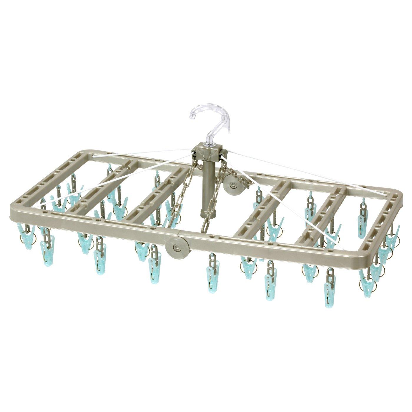 浴室乾燥に 熱に強いポリカーボネート製  ウチドライ 角折ハンガー 32Pの会