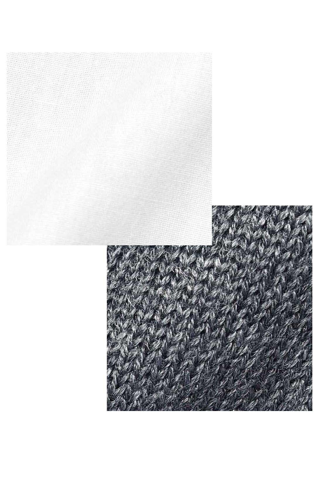 シャツもニットもさらりと軽いきれいめ素材で、ロングシーズン快適。
