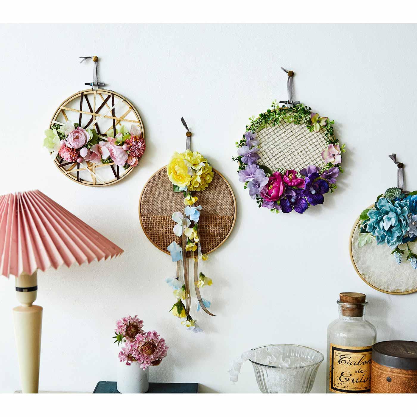 【クチュリエクラブ会員限定】壁一面に花の彩りを 癒やしの空間 フラワーフレームの会