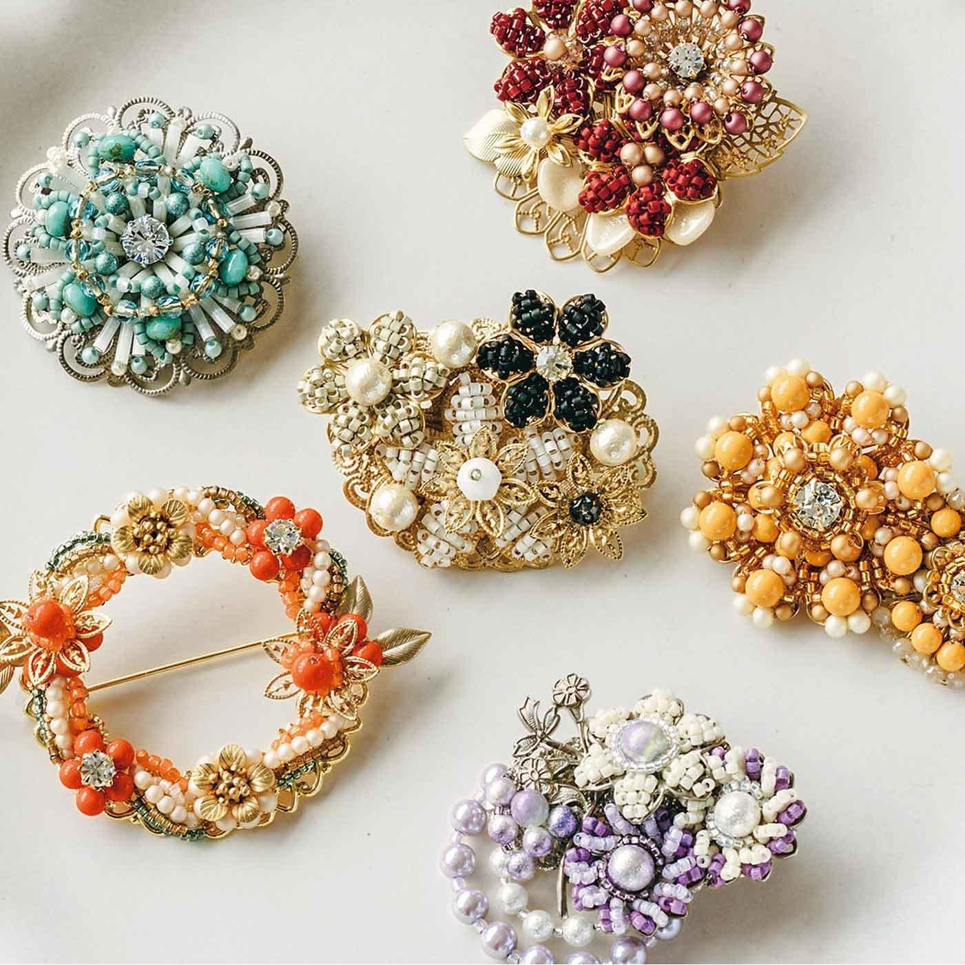 珠のパーツとグラスビーズで華めく コスチュームジュエリーの会