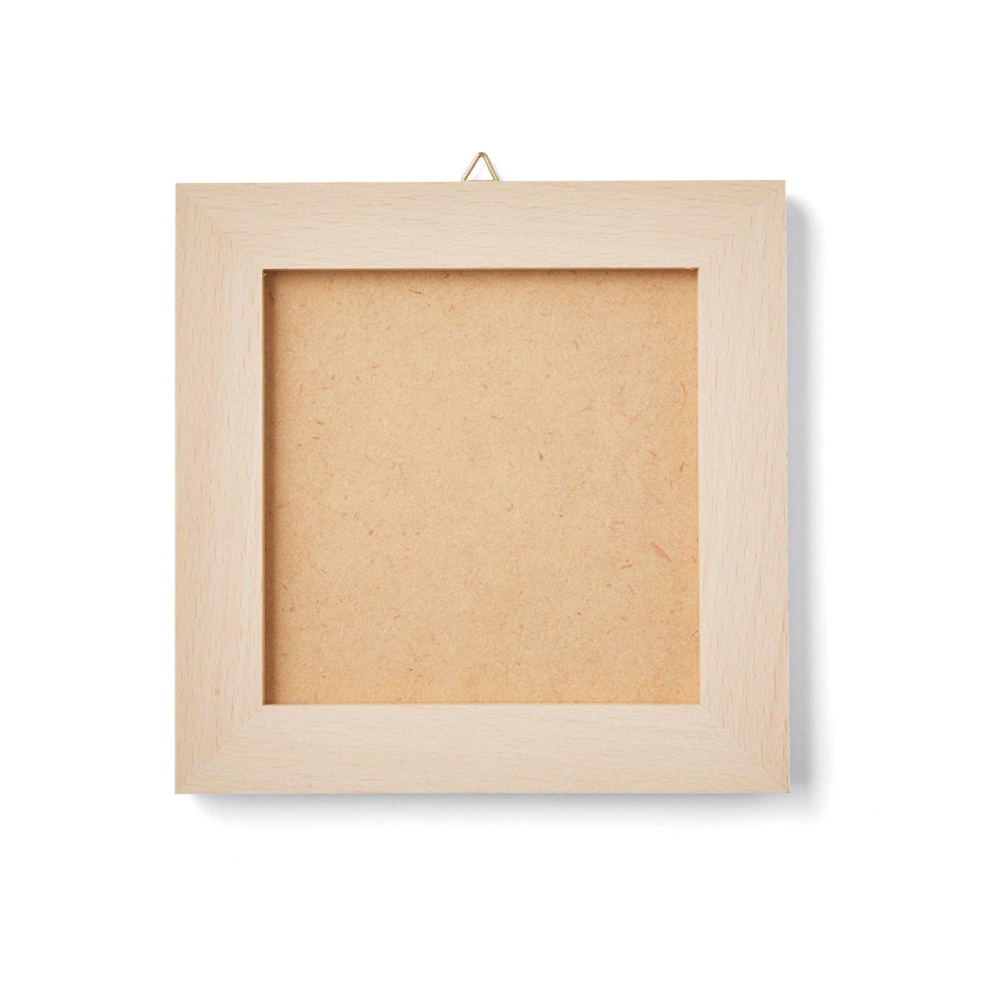 作品を引き立てる 正方形のシンプルフレーム