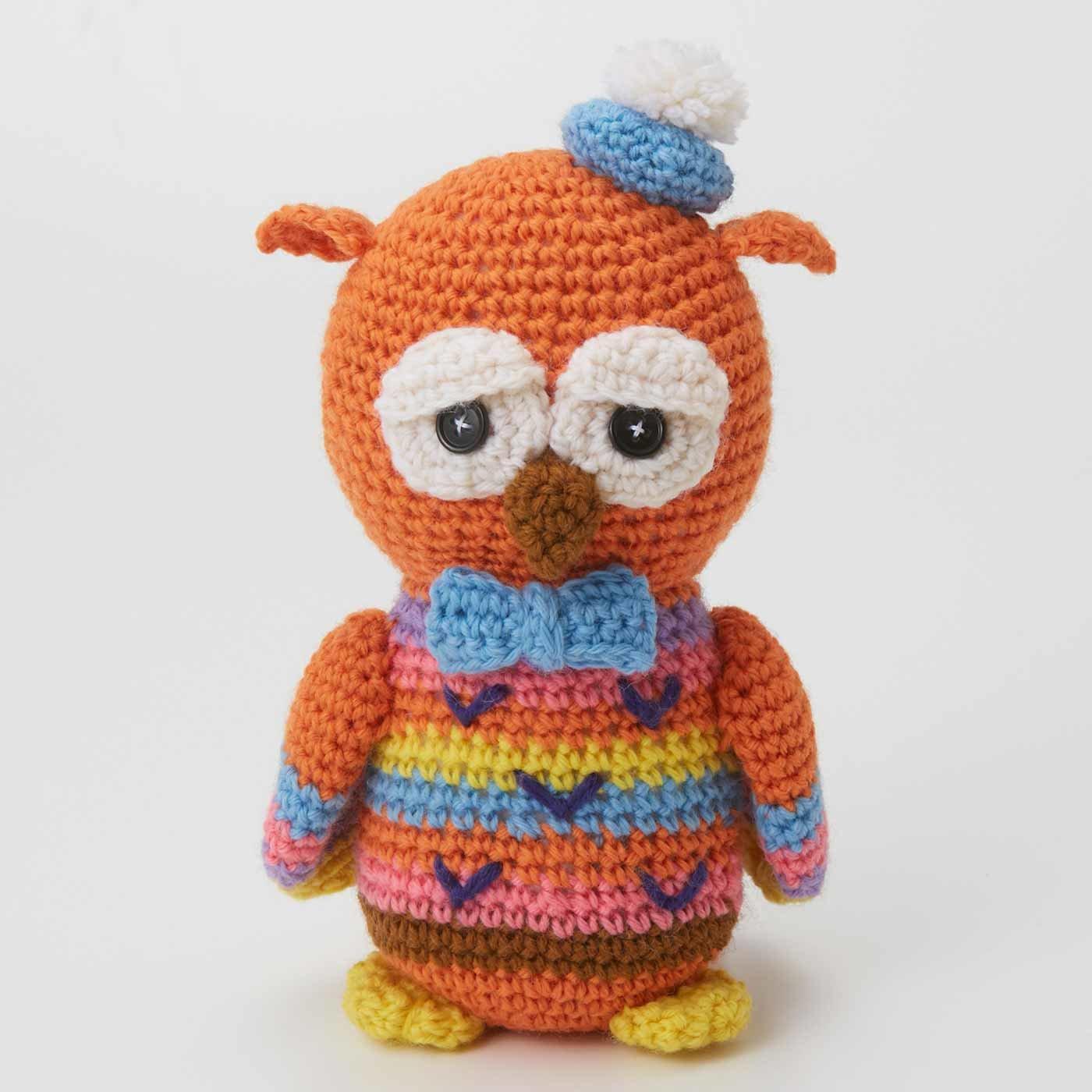 ハッピートイズ 福を呼ぶフクロウくん 編みぐるみ編み図セット