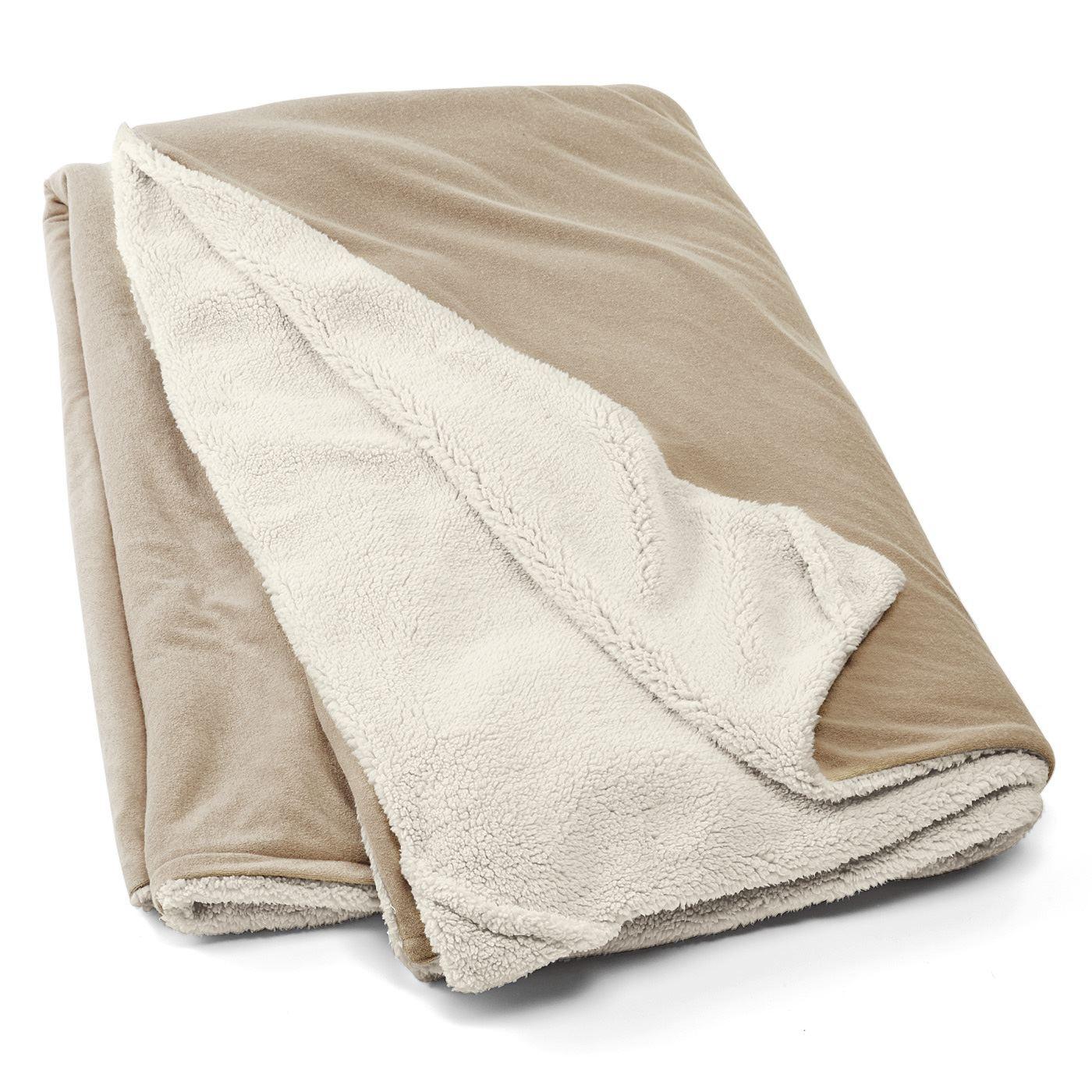 フェリシモ 季節の変わり目も快適 心地よいボア&パイルの2-way掛け布団カバー
