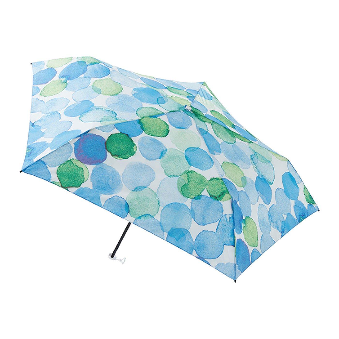 雨晴兼用UV防止 estaa / エスタ  new軽量ミニ傘UV 『水彩ドット』