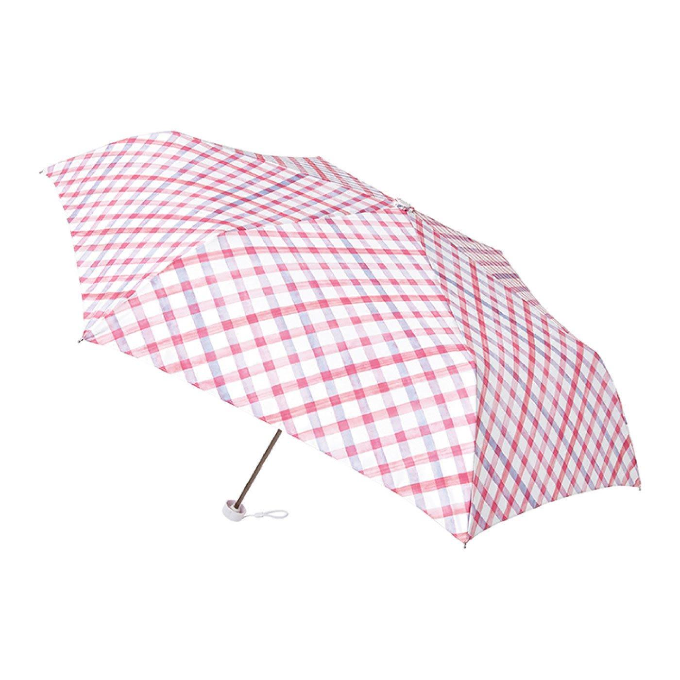 雨晴兼用UV防止 estaa / エスタ ミニ傘UV 『水彩チェック』