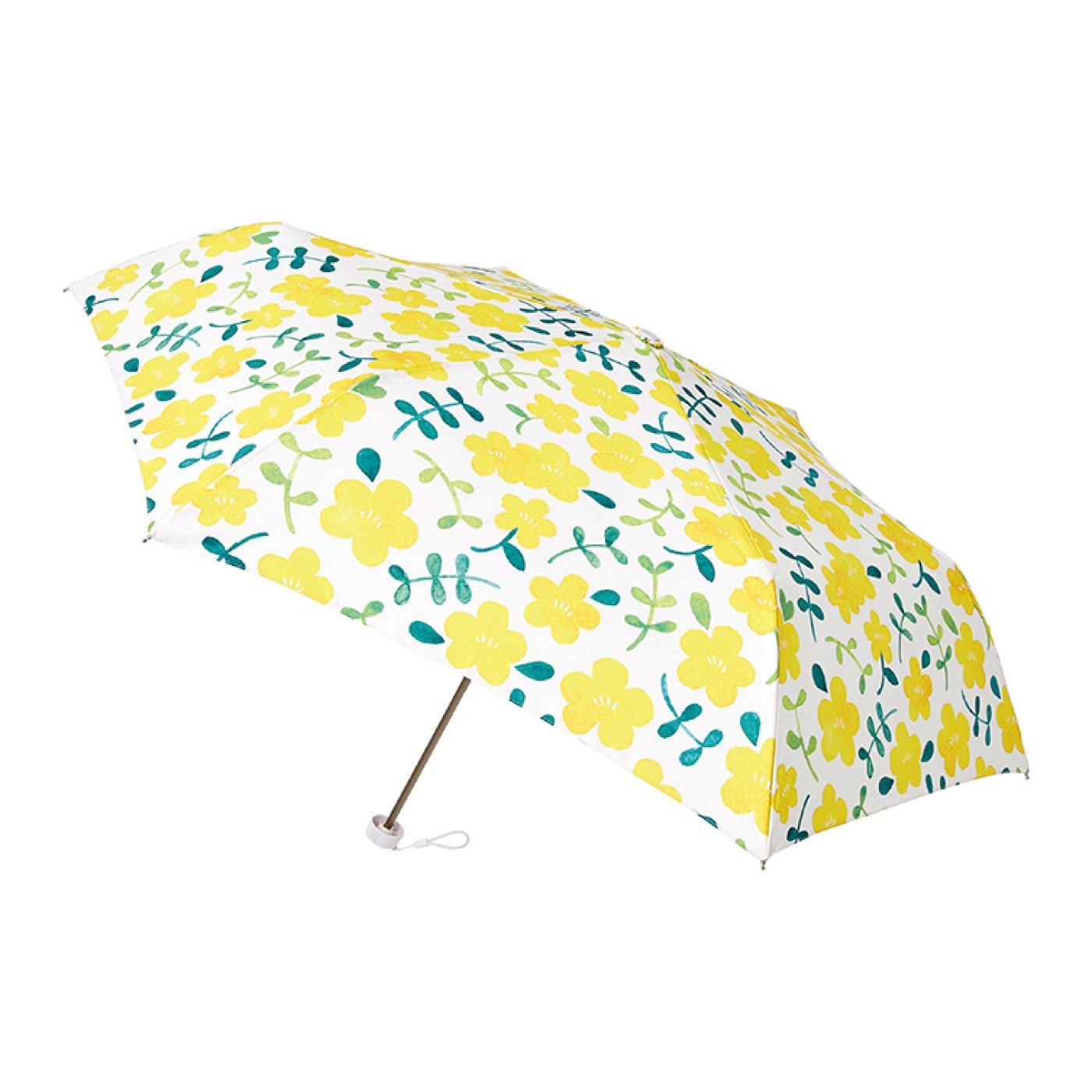 雨晴兼用UV防止 estaa / エスタ ミニ傘UV 『手書きフラワー』