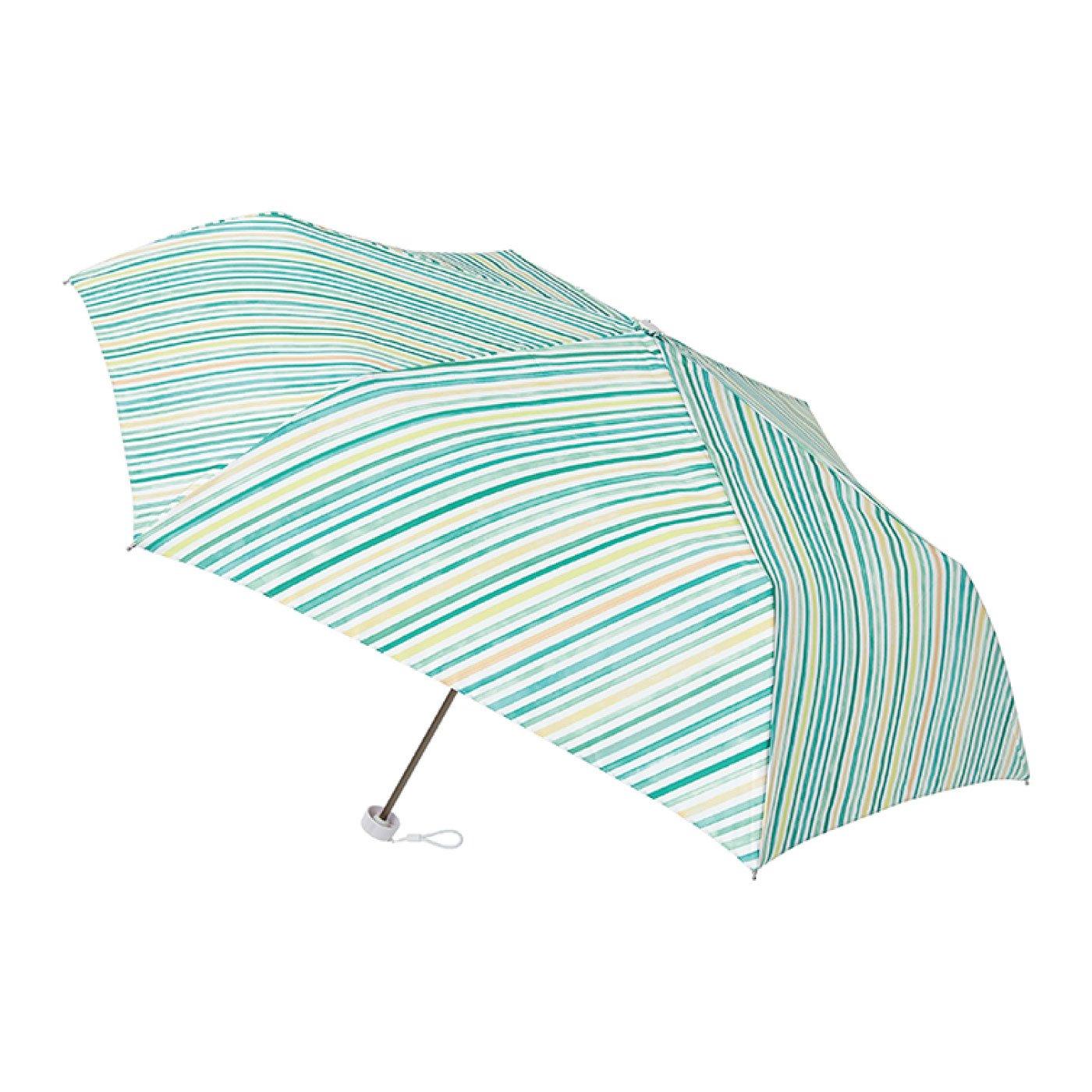 雨晴兼用UV防止 estaa / エスタ ミニ傘UV 『水彩マルチストライプ』