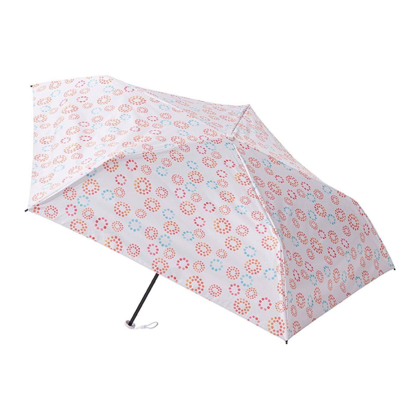 晴雨兼用 estaa / エスタ 一級遮光 超軽量傘 『ドットフラワー』