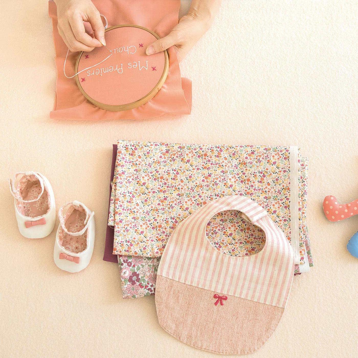 わが子に最初のプレゼント ベビー小物〈ピンク〉「はじめてさんのきほんのき」レッスン