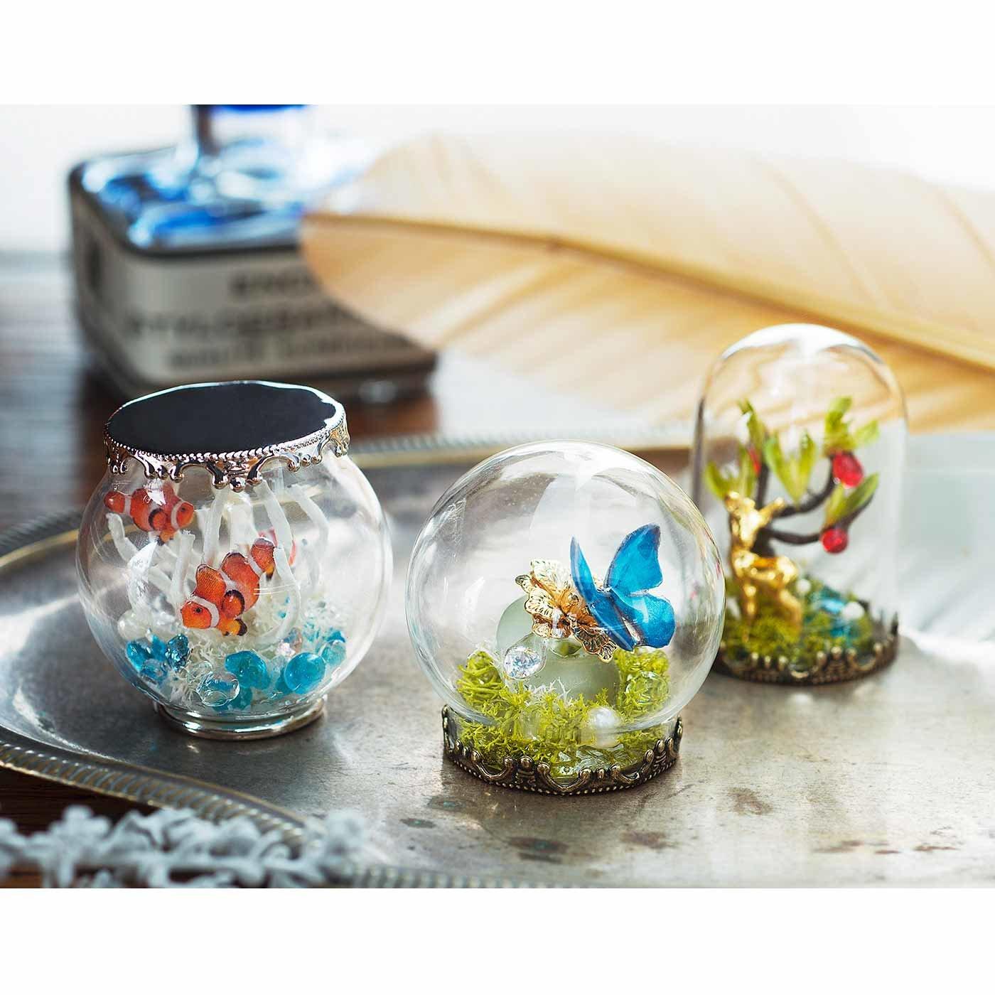 時をとじ込めた海と森の風景 UVレジンで彩る 小さなガラスドームの会