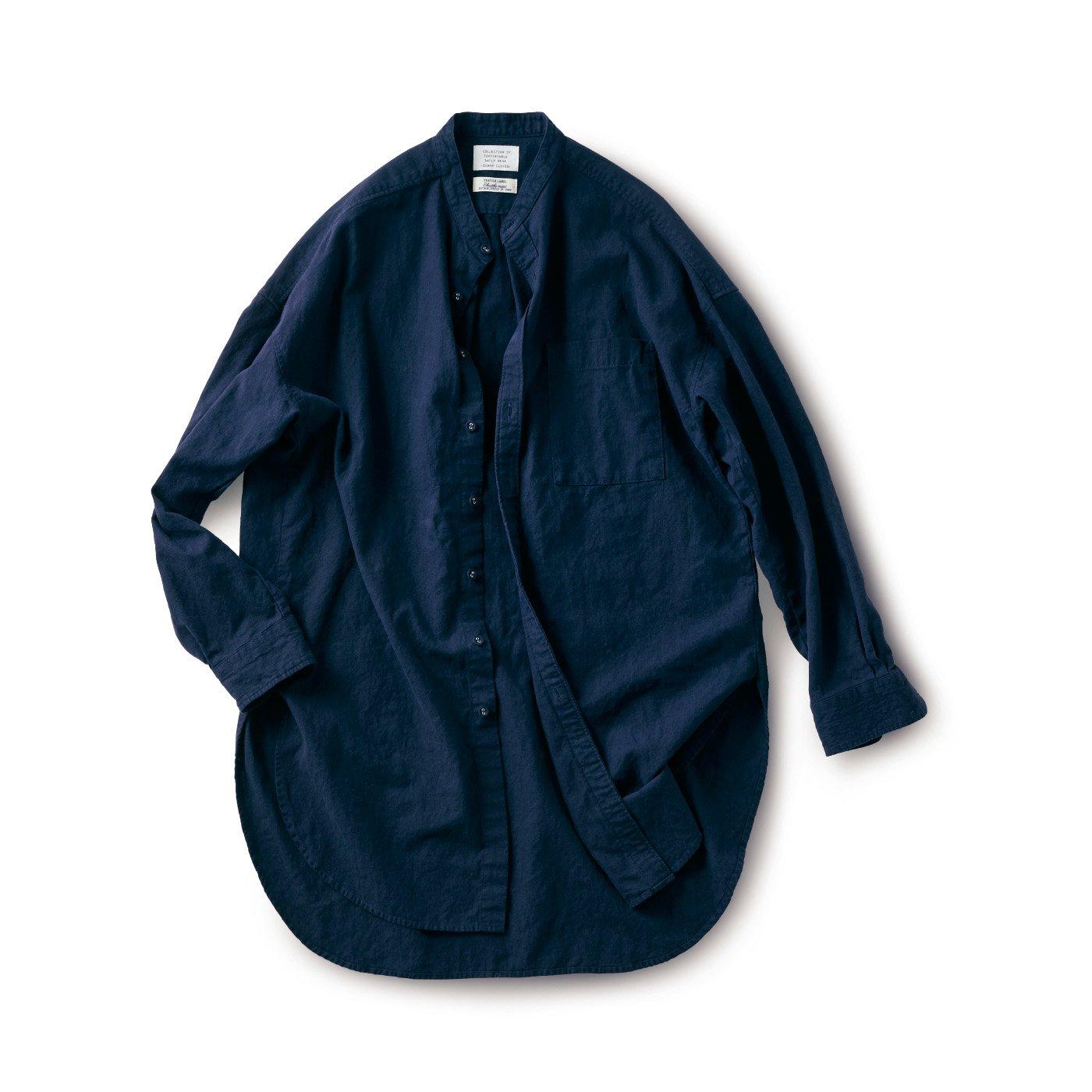 サニークラウズ feat. Shuttle Notes 秋茄子みたいなロングシャツ〈メンズ〉
