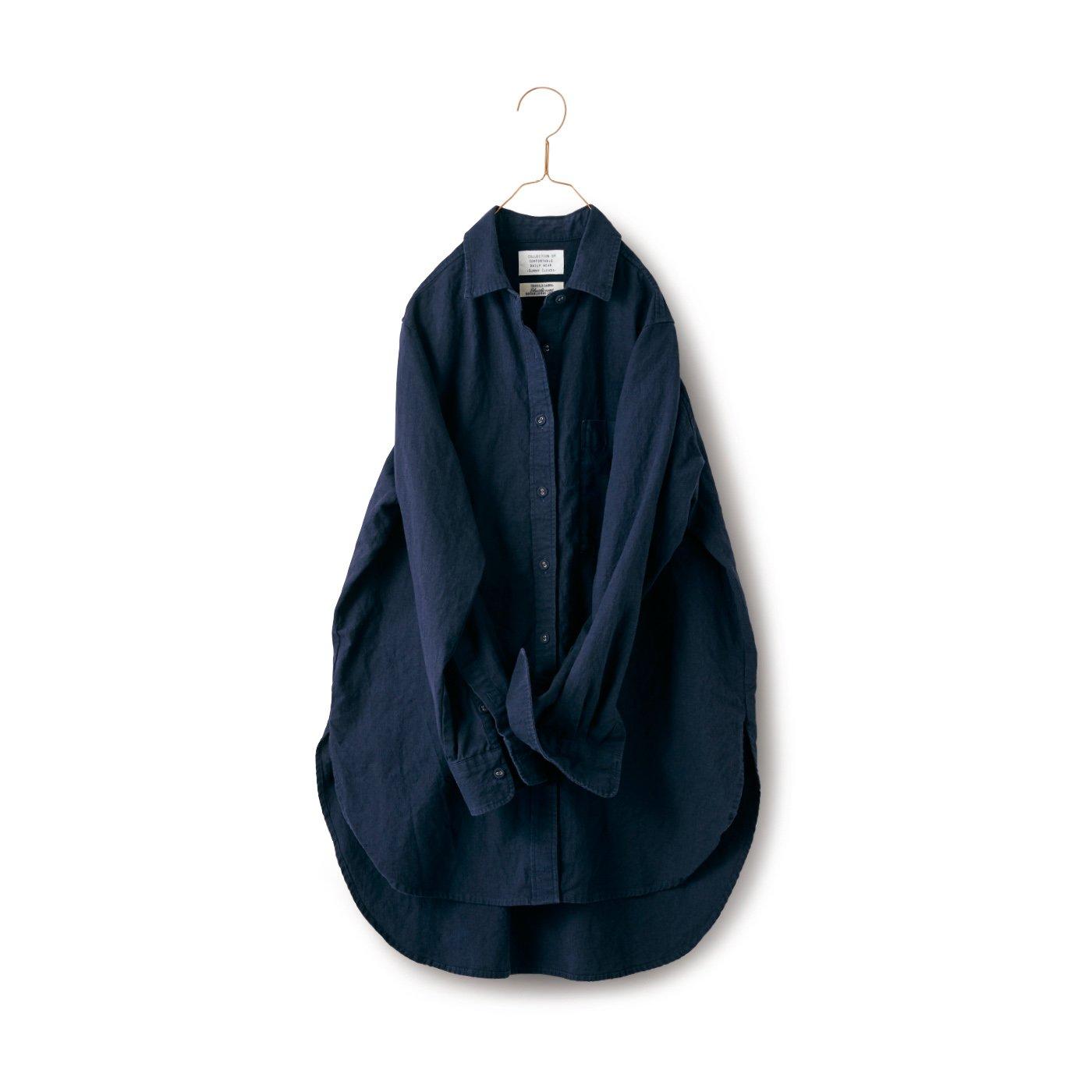 サニークラウズ feat. Shuttle Notes 秋茄子みたいなロングシャツ〈レディース〉
