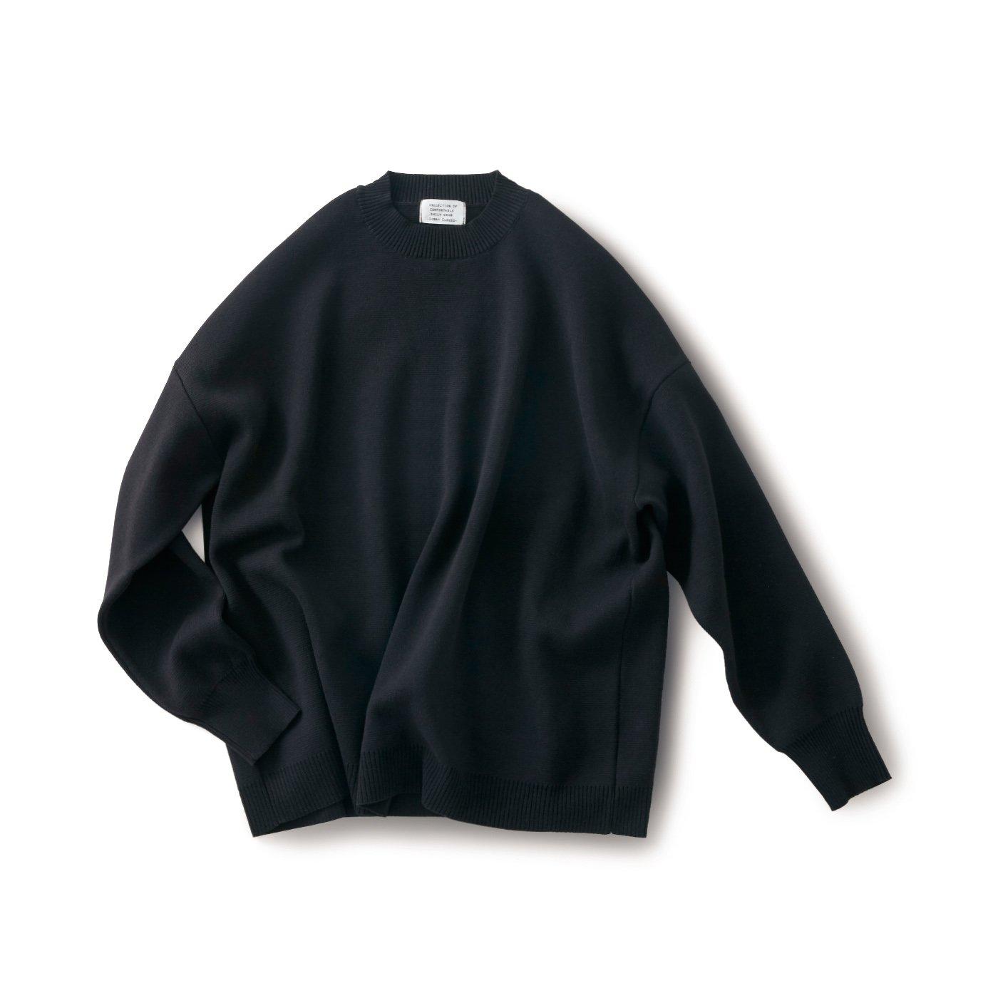 サニークラウズ 男は黙って黒色セーター〈メンズ〉