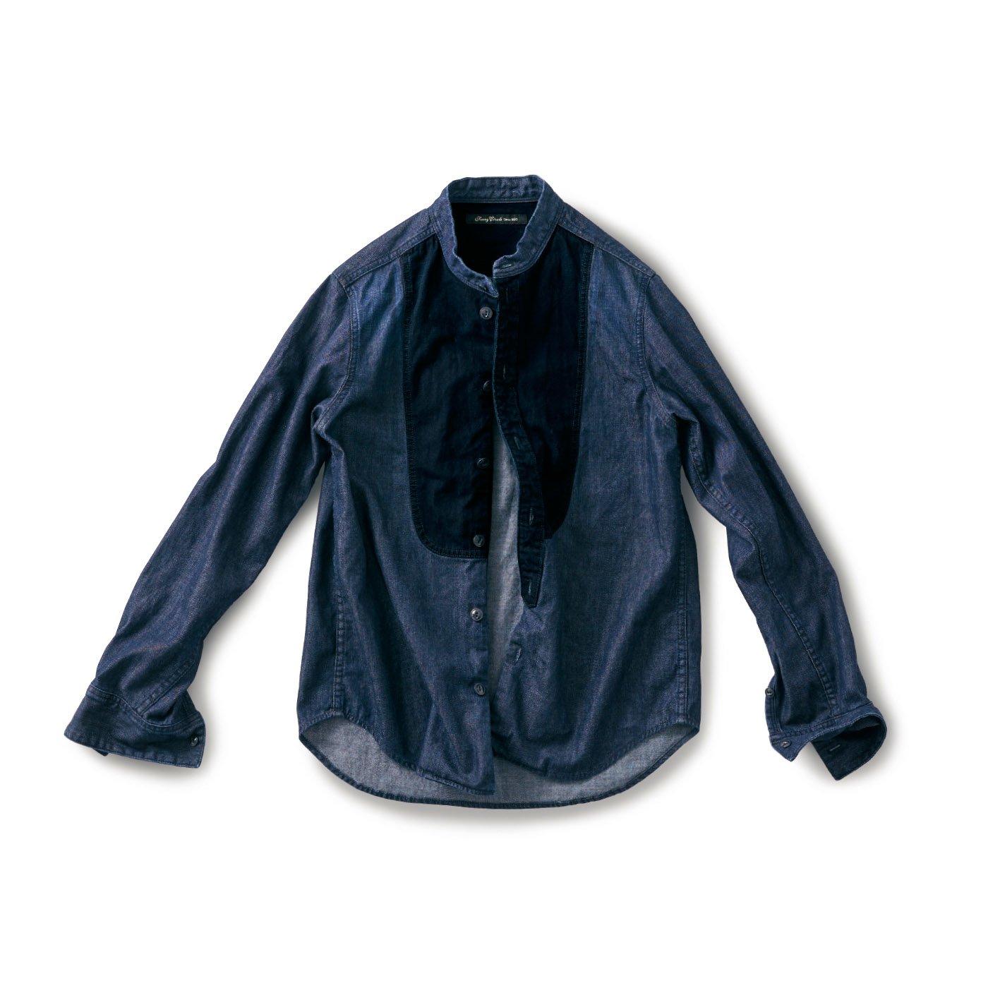 サニークラウズ スタイをつけたデニムシャツ〈メンズ〉