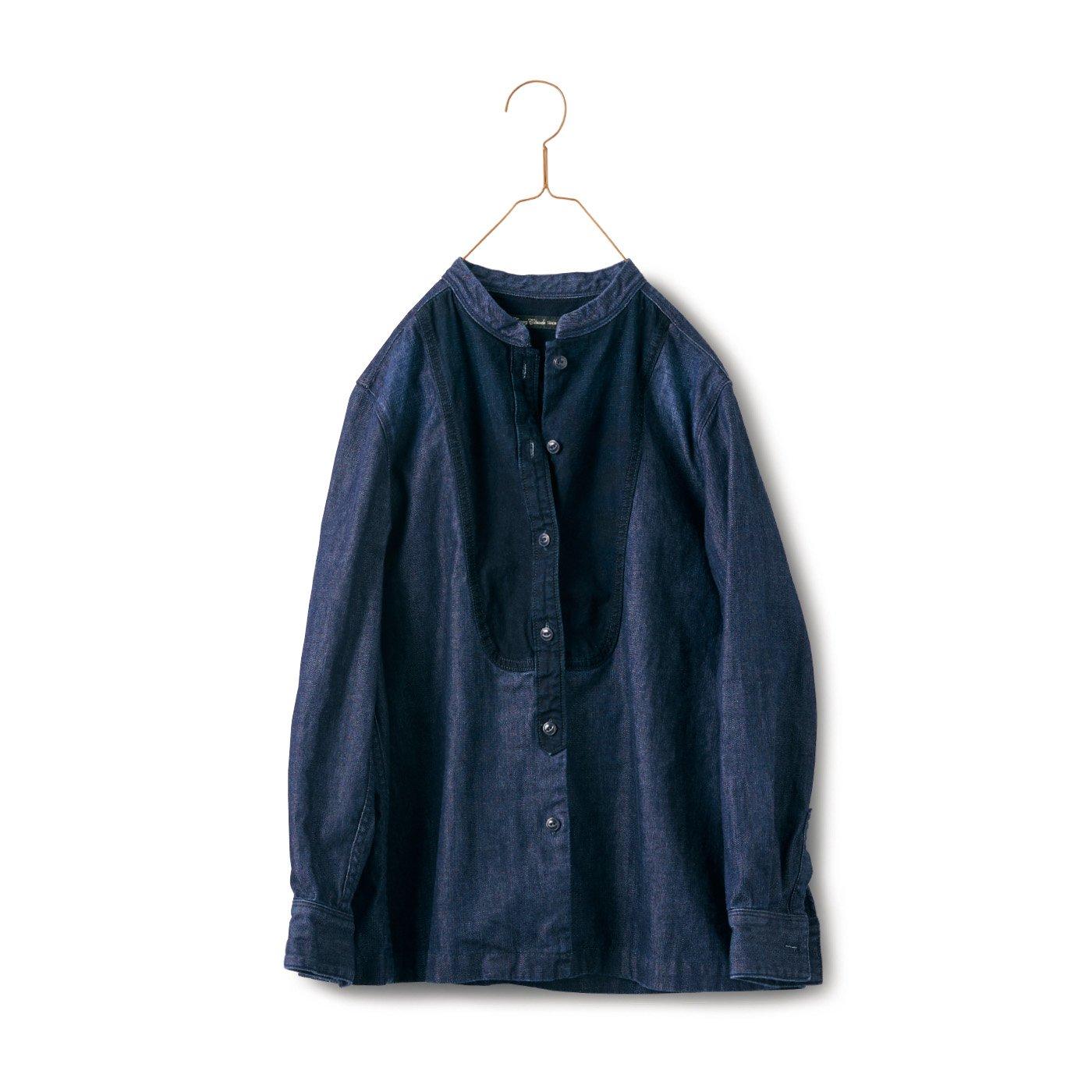サニークラウズ スタイをつけたデニムシャツ〈レディース〉