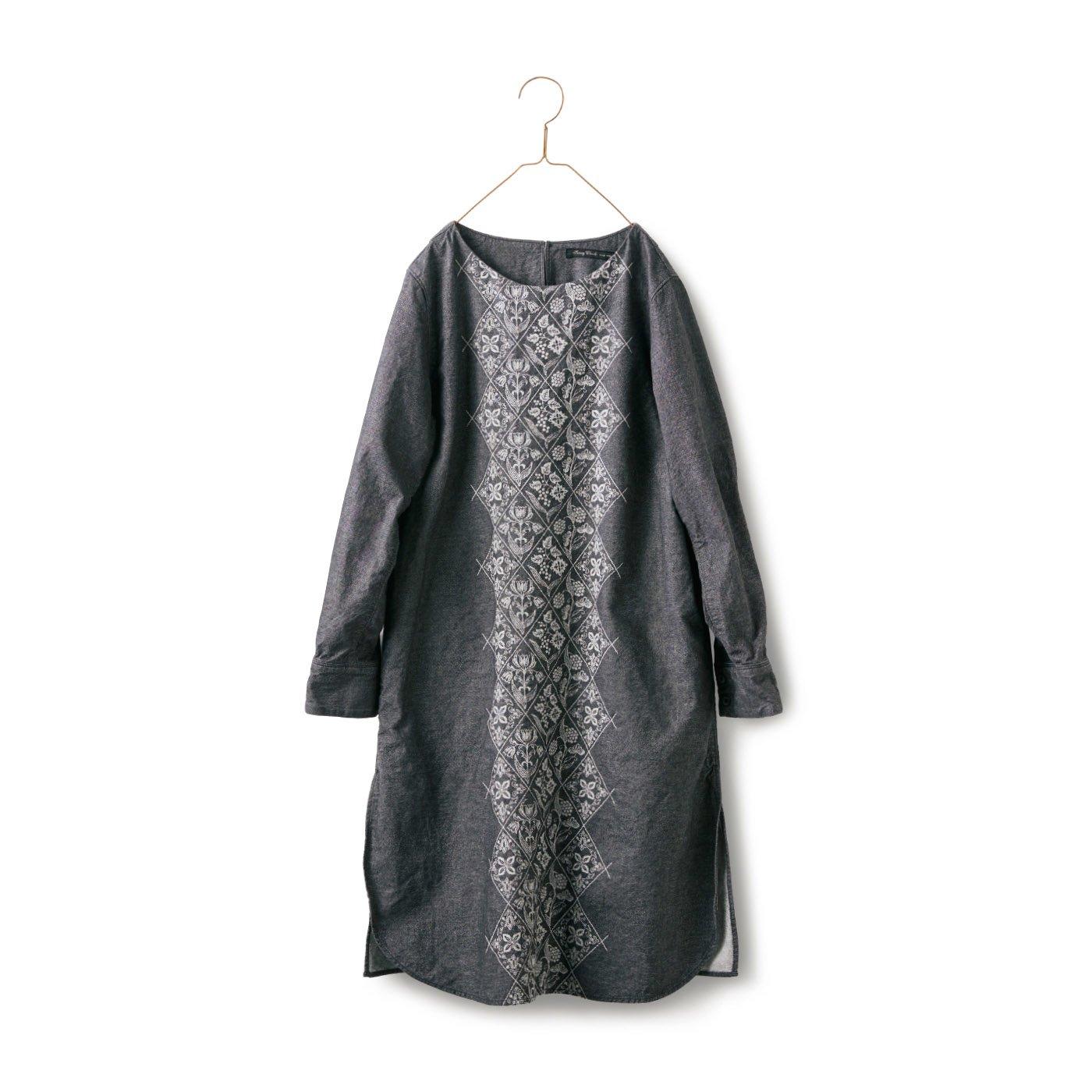 サニークラウズ 織り模様のワンピチュニック〈レディース〉